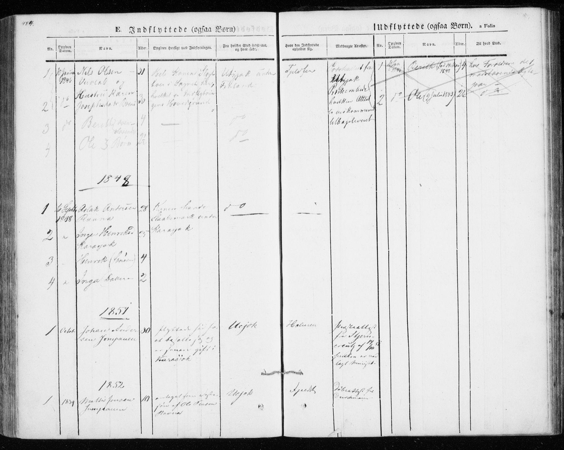 SATØ, Kistrand/Porsanger sokneprestembete, H/Ha/L0012.kirke: Ministerialbok nr. 12, 1843-1871, s. 484-485