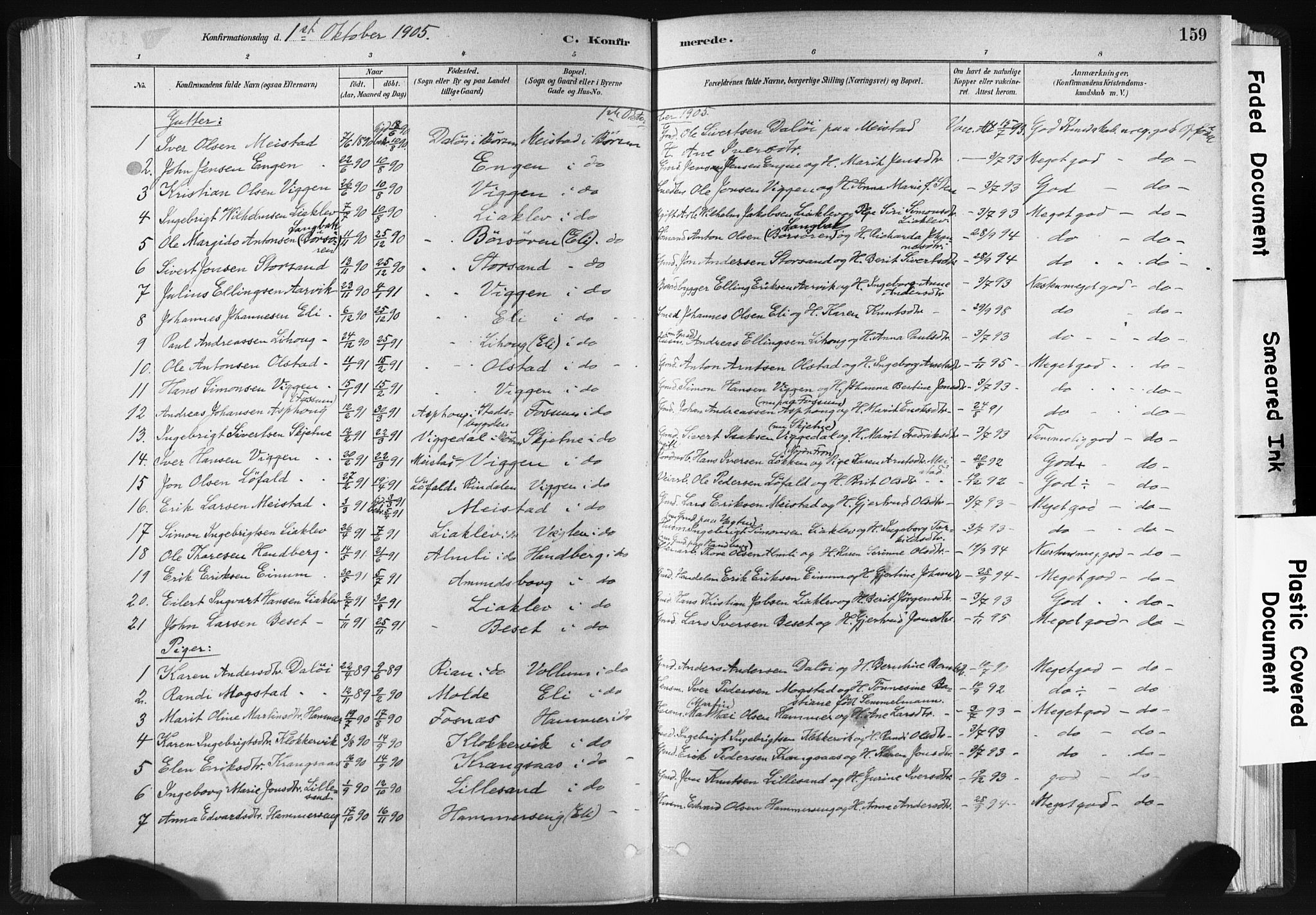 SAT, Ministerialprotokoller, klokkerbøker og fødselsregistre - Sør-Trøndelag, 665/L0773: Ministerialbok nr. 665A08, 1879-1905, s. 159
