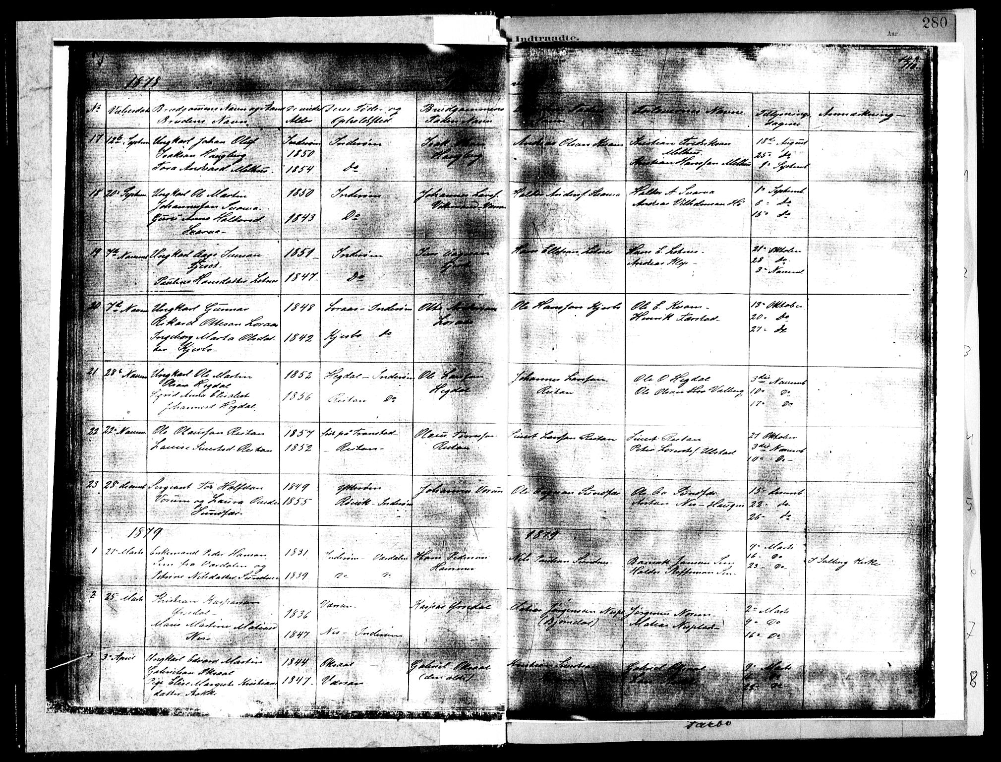 SAT, Ministerialprotokoller, klokkerbøker og fødselsregistre - Nord-Trøndelag, 730/L0285: Ministerialbok nr. 730A10, 1879-1914, s. 110