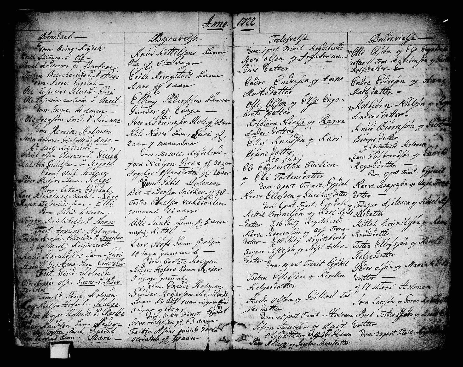 SAKO, Sigdal kirkebøker, F/Fa/L0001: Ministerialbok nr. I 1, 1722-1777, s. 3