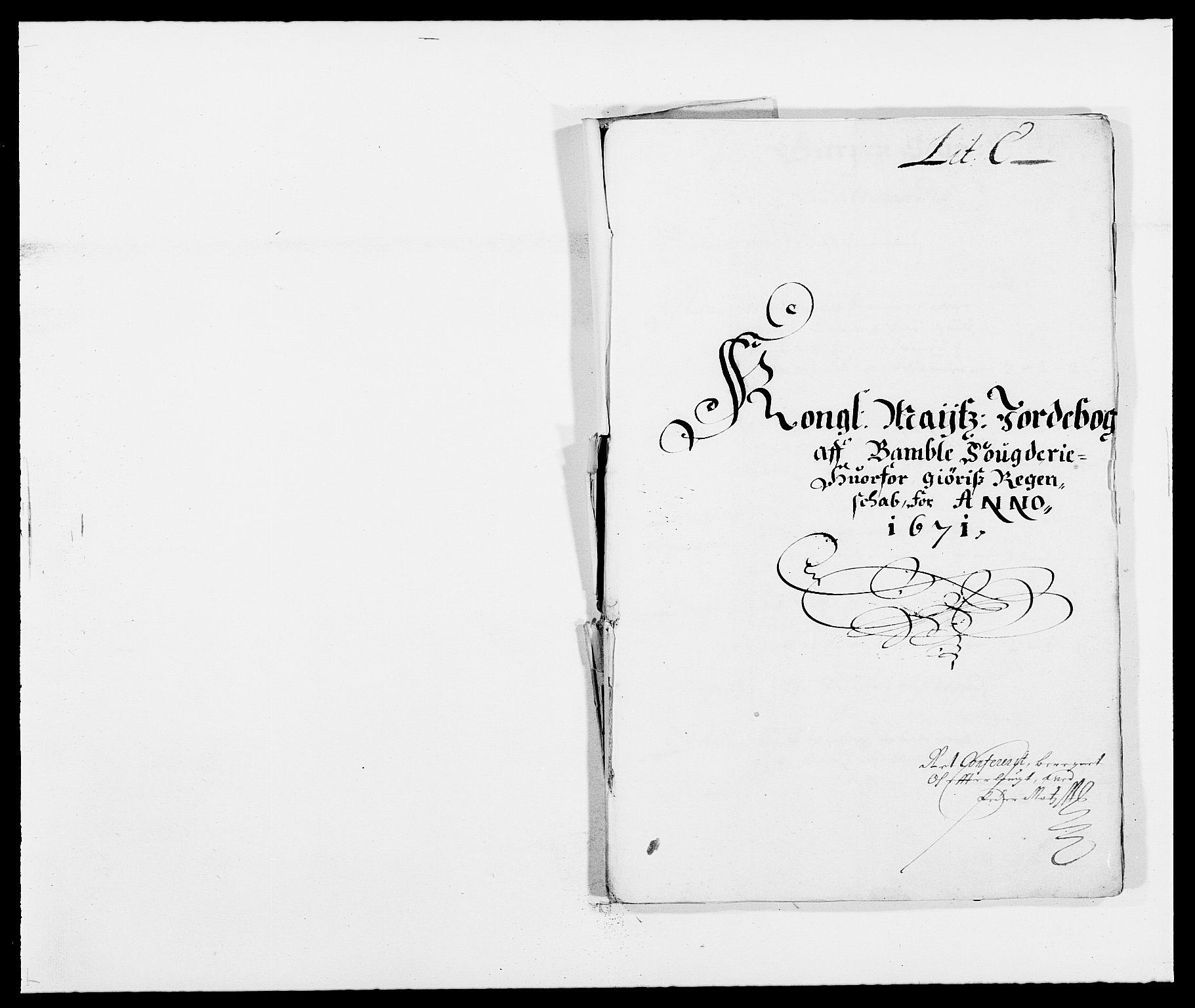 RA, Rentekammeret inntil 1814, Reviderte regnskaper, Fogderegnskap, R34/L2041: Fogderegnskap Bamble, 1670-1672, s. 193
