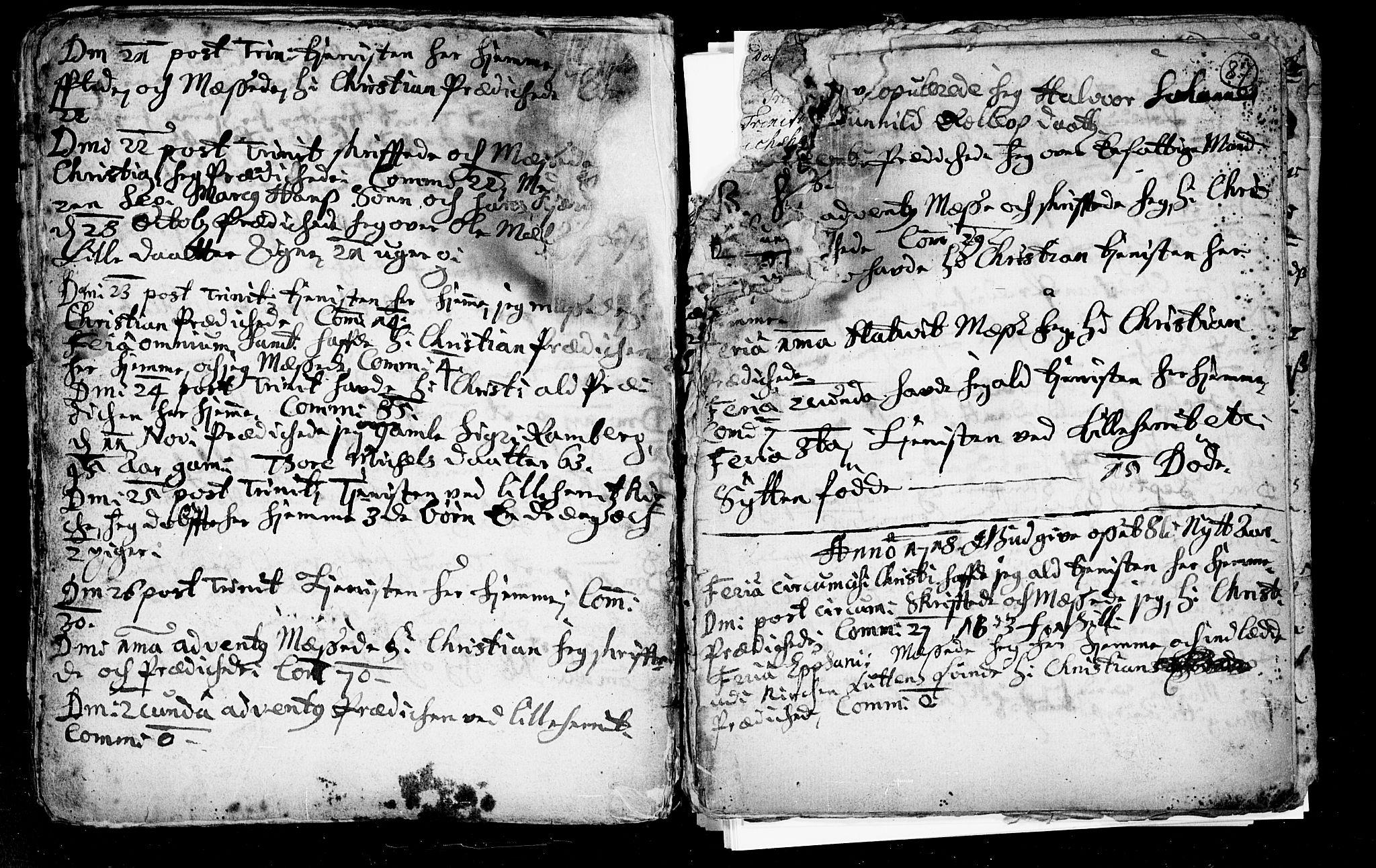 SAKO, Heddal kirkebøker, F/Fa/L0002: Ministerialbok nr. I 2, 1699-1722, s. 87
