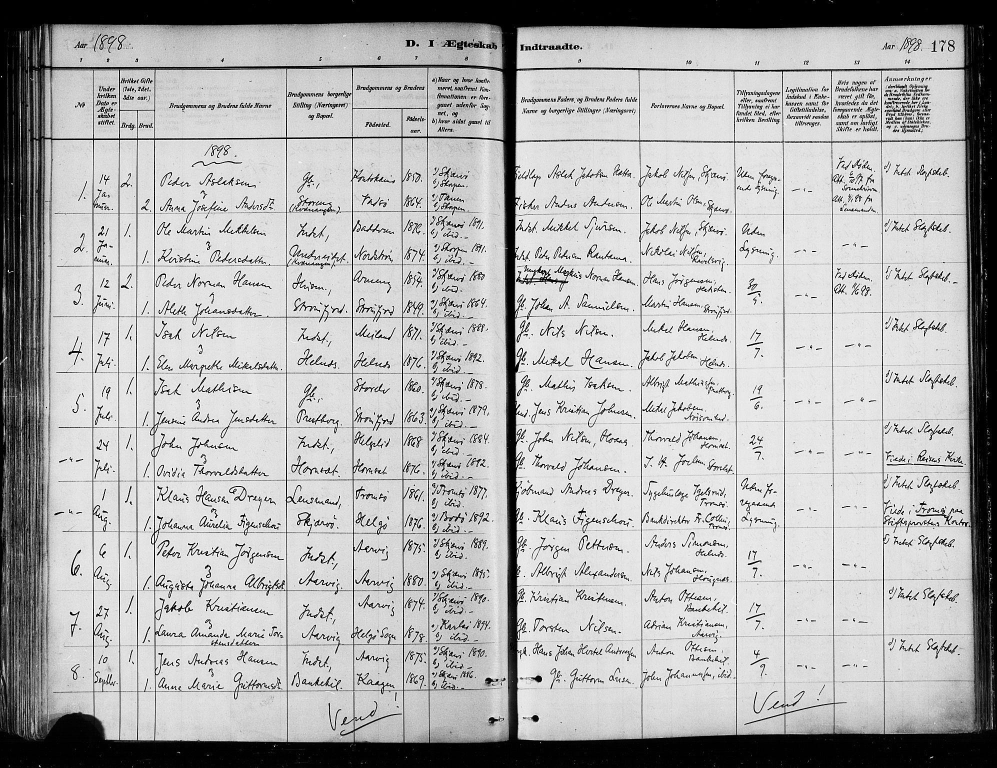 SATØ, Skjervøy sokneprestkontor, H/Ha/Haa/L0010kirke: Ministerialbok nr. 10, 1887-1898, s. 178