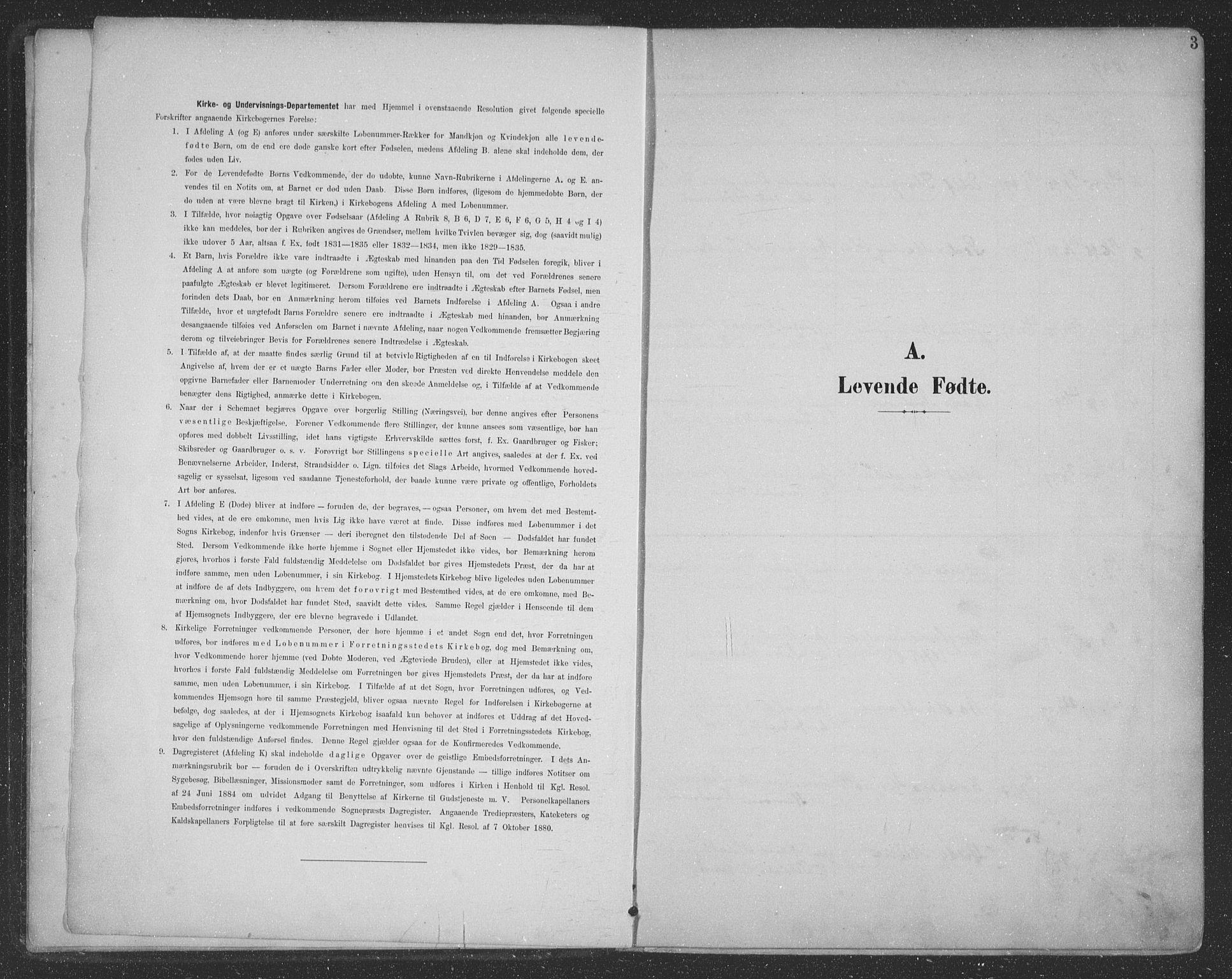 SAT, Ministerialprotokoller, klokkerbøker og fødselsregistre - Nordland, 863/L0899: Ministerialbok nr. 863A11, 1897-1906, s. 3