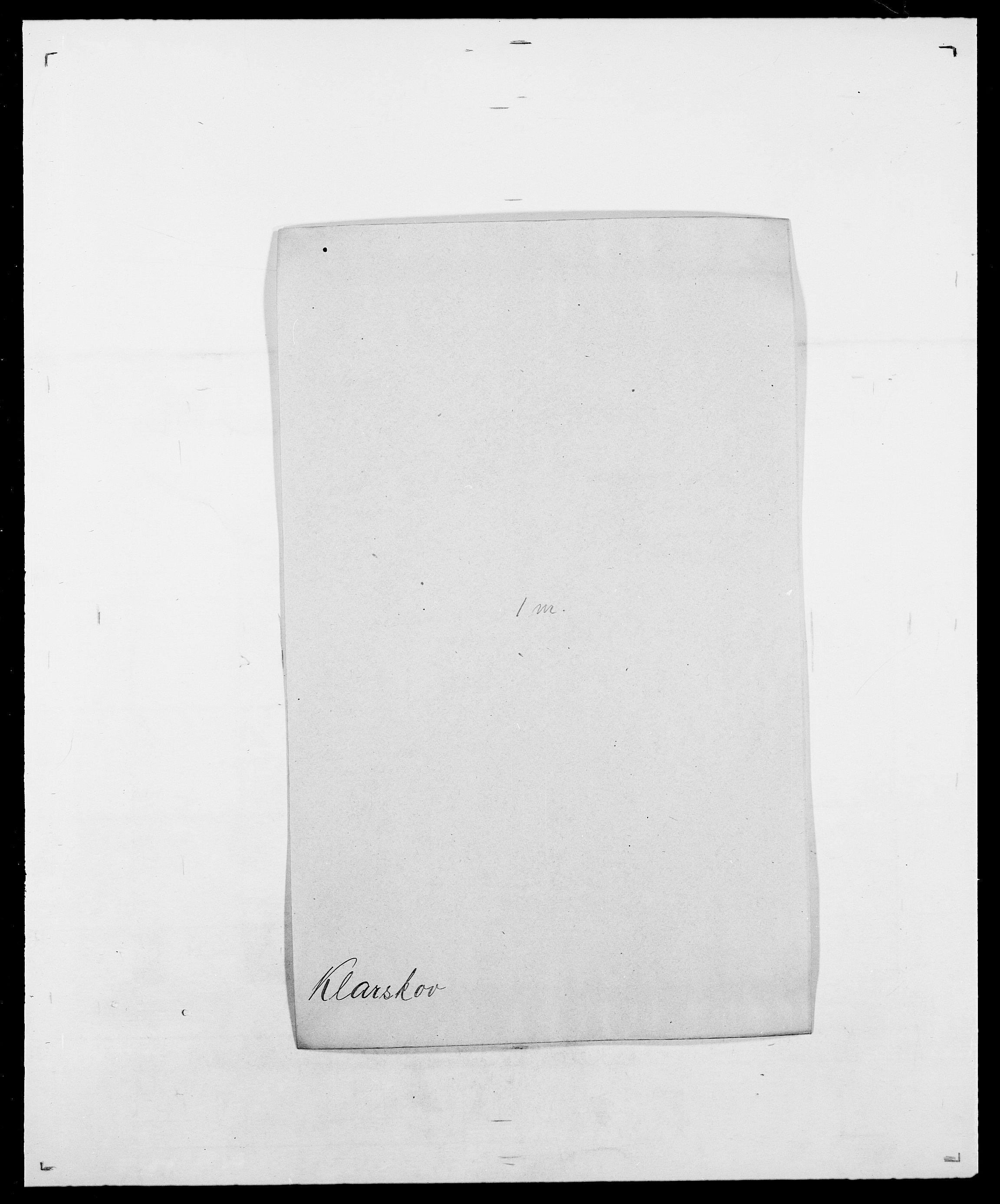 SAO, Delgobe, Charles Antoine - samling, D/Da/L0021: Klagenberg - Kristoft, s. 6