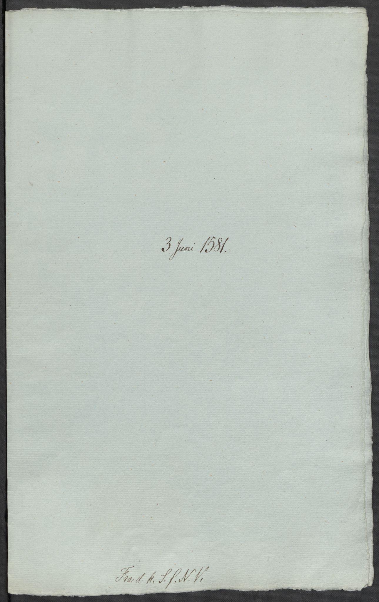 RA, Riksarkivets diplomsamling, F02/L0083: Dokumenter, 1581, s. 18