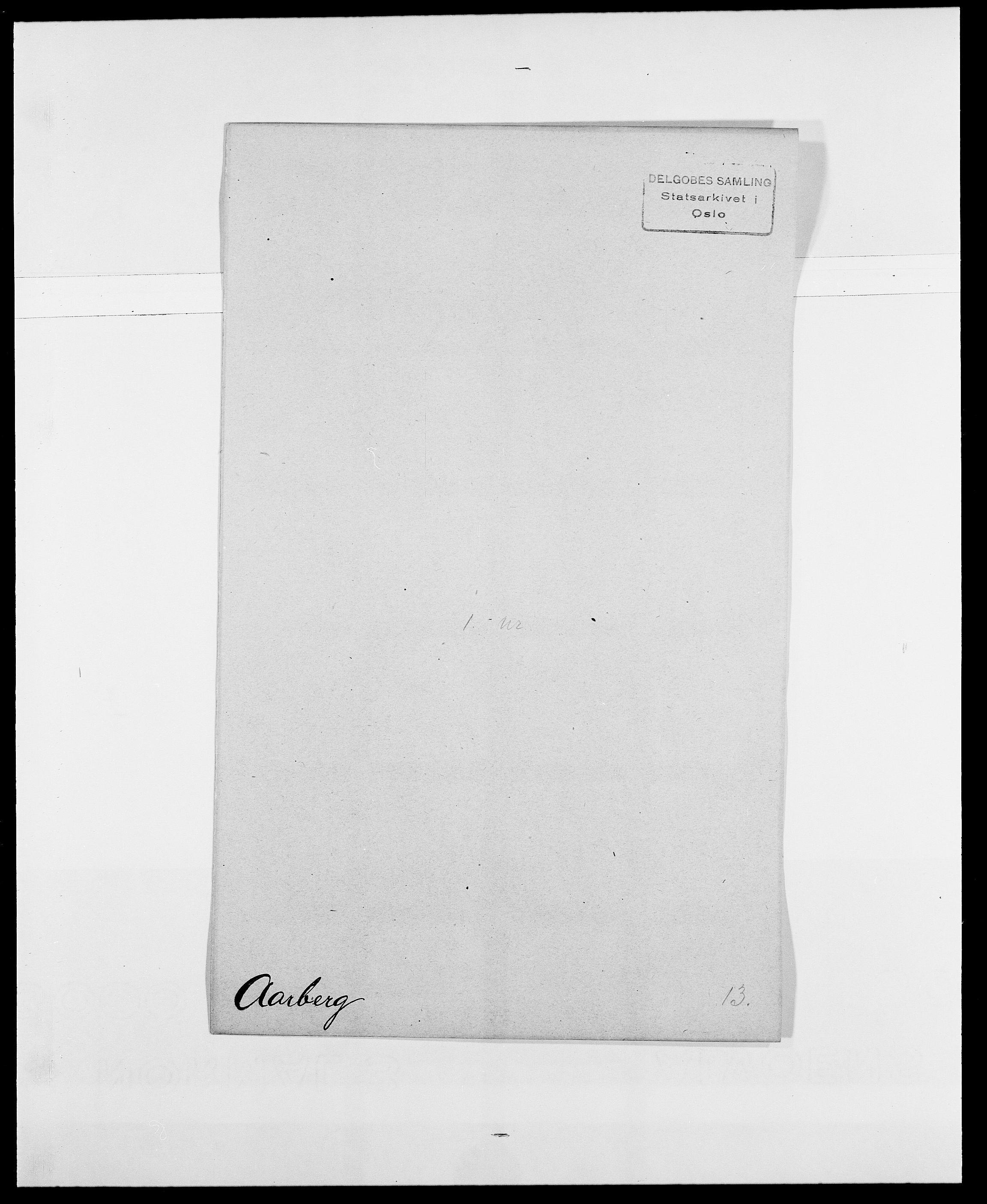 SAO, Delgobe, Charles Antoine - samling, D/Da/L0001: Aabye - Angerman, s. 83