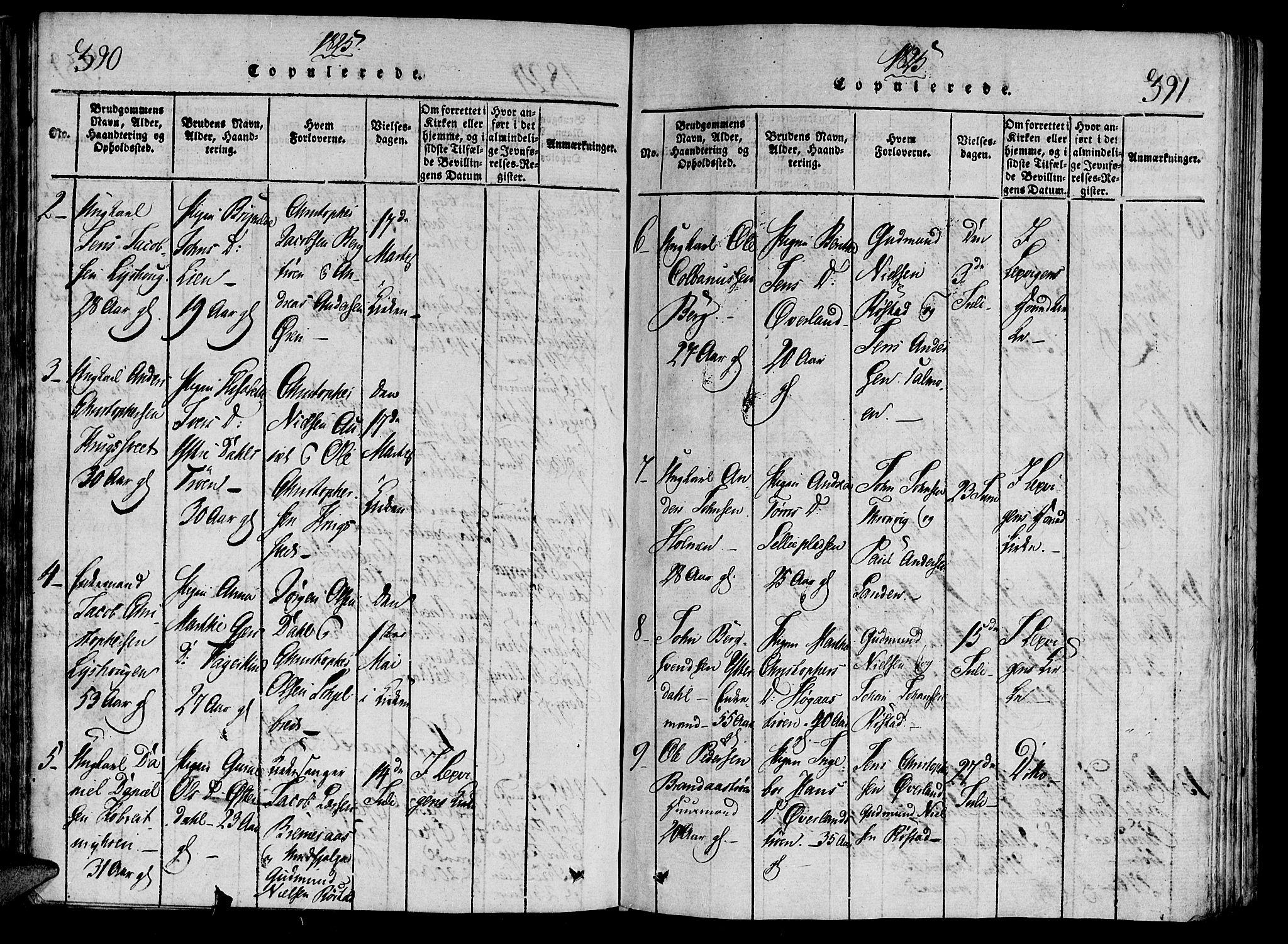 SAT, Ministerialprotokoller, klokkerbøker og fødselsregistre - Nord-Trøndelag, 701/L0005: Ministerialbok nr. 701A05 /1, 1816-1825, s. 390-391