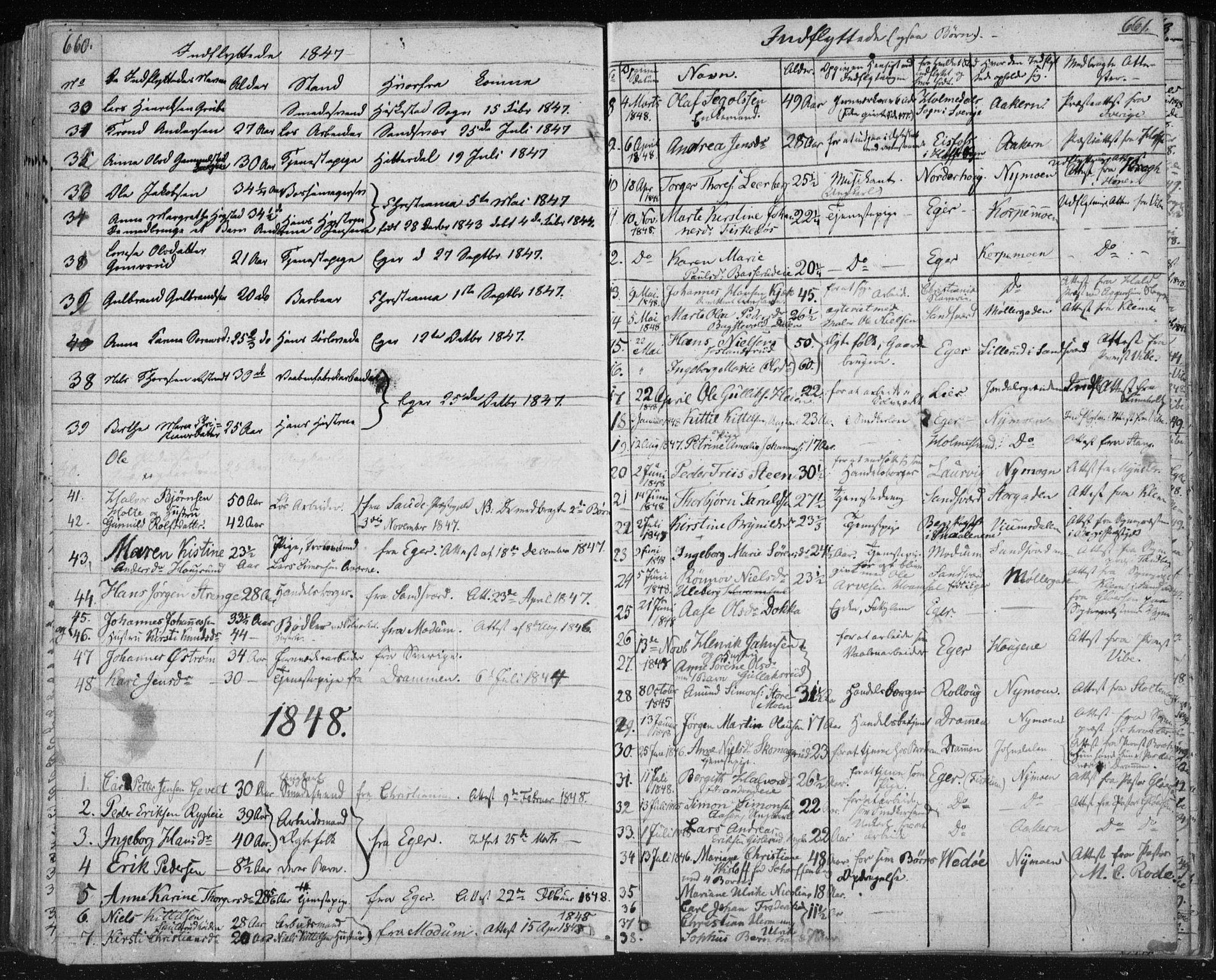 SAKO, Kongsberg kirkebøker, F/Fa/L0009: Ministerialbok nr. I 9, 1839-1858, s. 660-661
