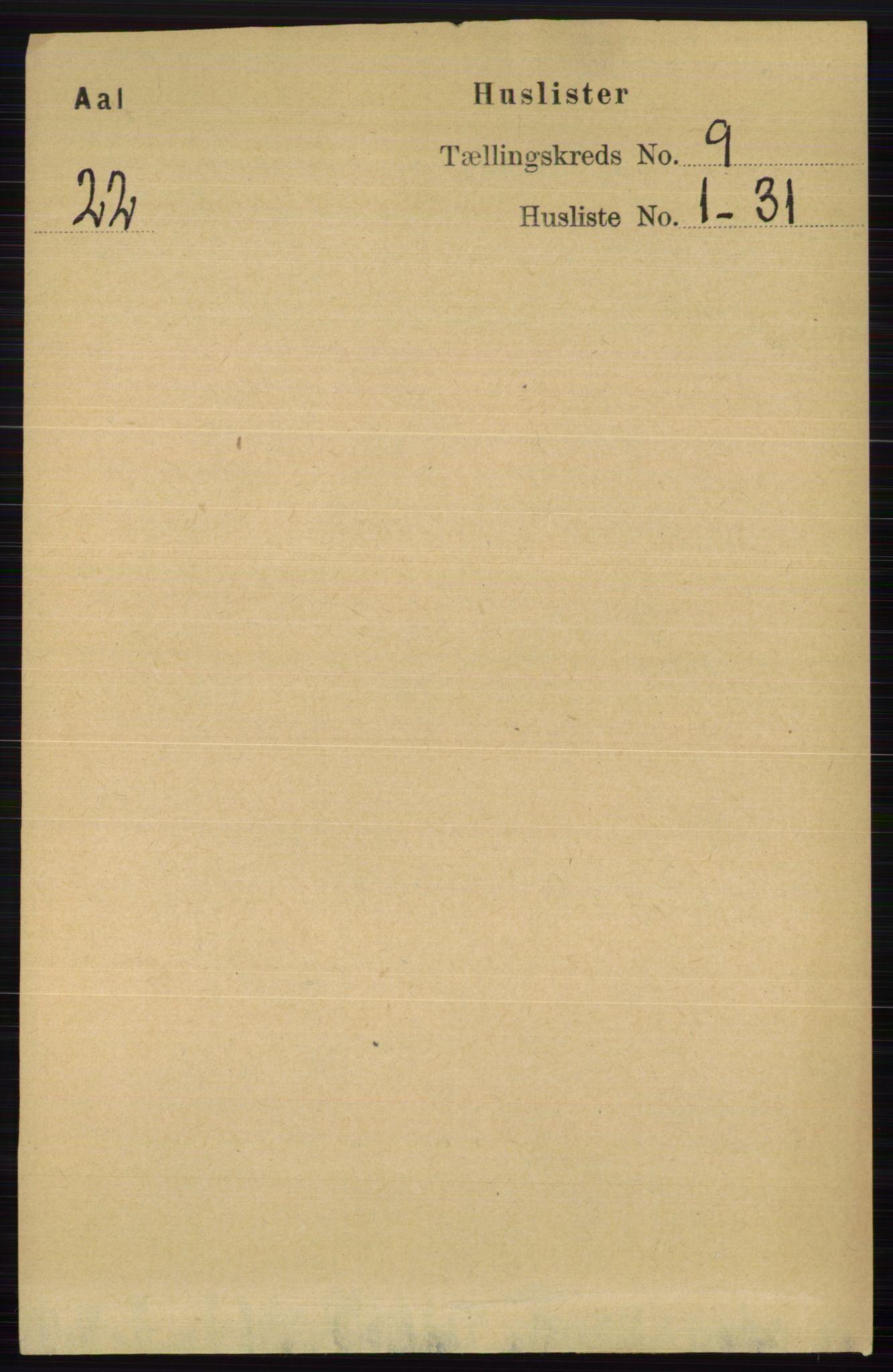 RA, Folketelling 1891 for 0619 Ål herred, 1891, s. 2445