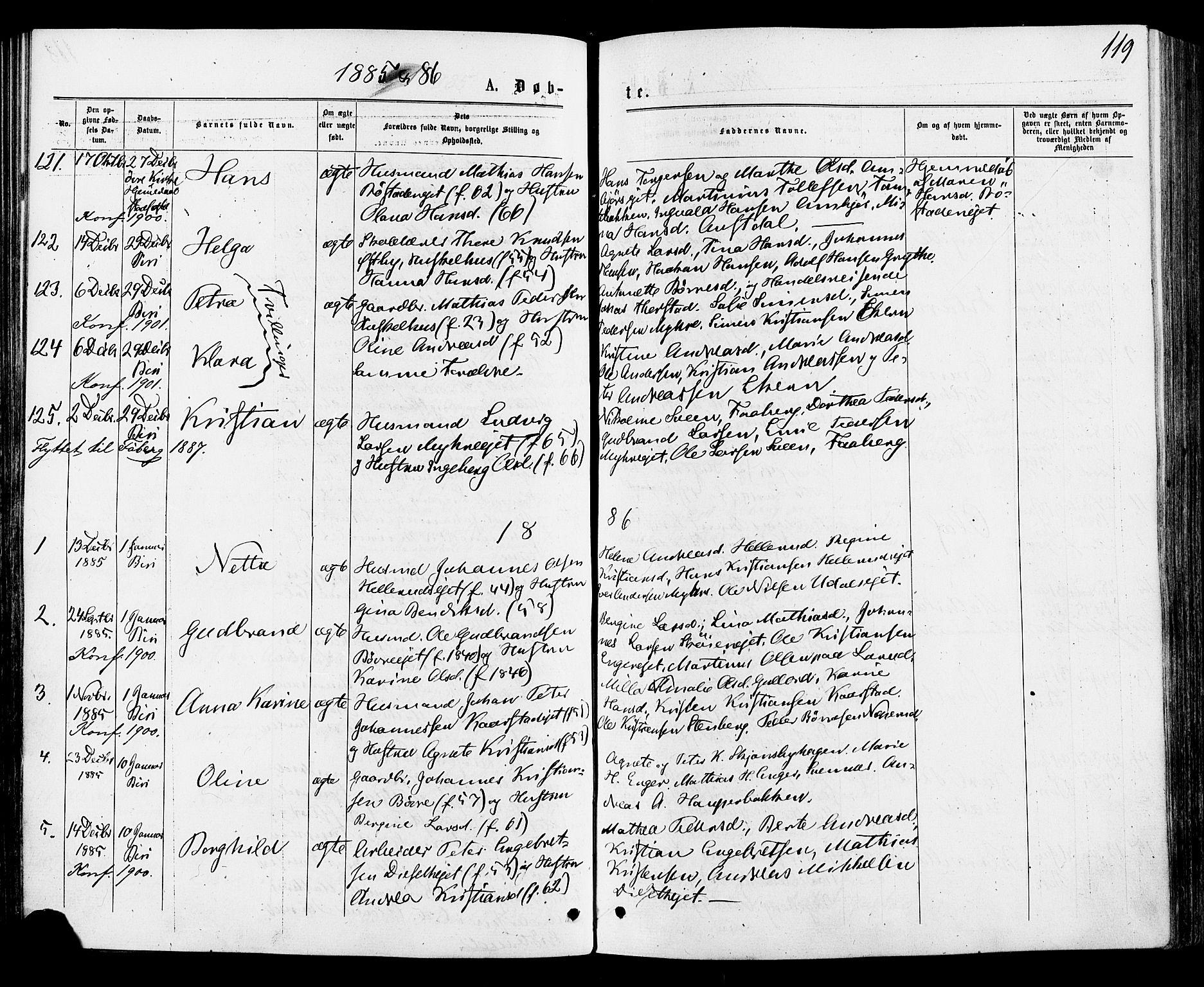 SAH, Biri prestekontor, Ministerialbok nr. 6, 1877-1886, s. 119