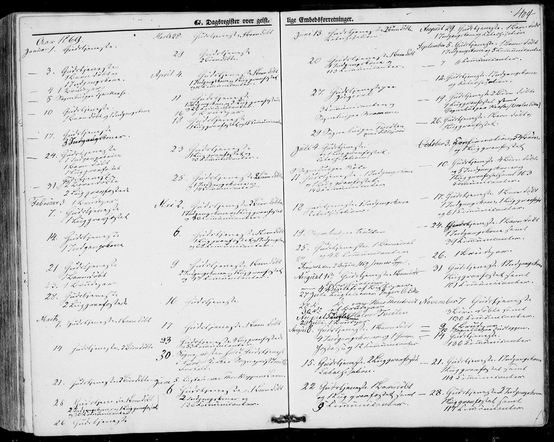 SAKO, Bø kirkebøker, F/Fa/L0009: Ministerialbok nr. 9, 1862-1879, s. 404
