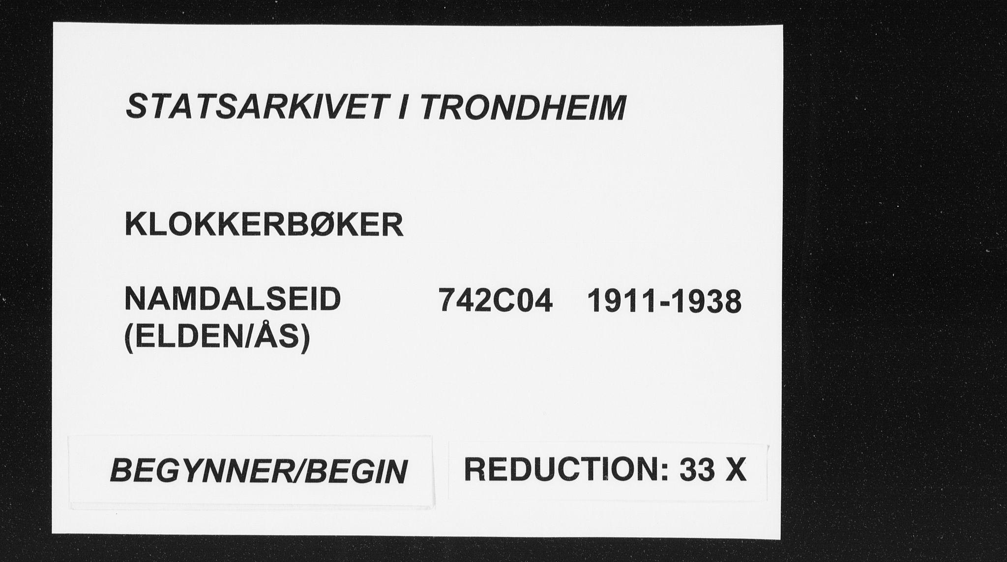SAT, Ministerialprotokoller, klokkerbøker og fødselsregistre - Nord-Trøndelag, 742/L0413: Klokkerbok nr. 742C04, 1911-1938