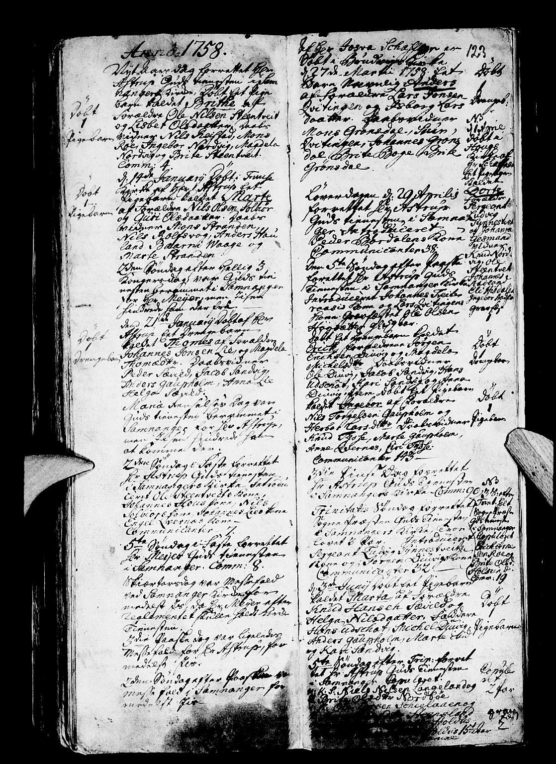 SAB, Os sokneprestembete*, Ministerialbok nr. A 4, 1669-1760, s. 123
