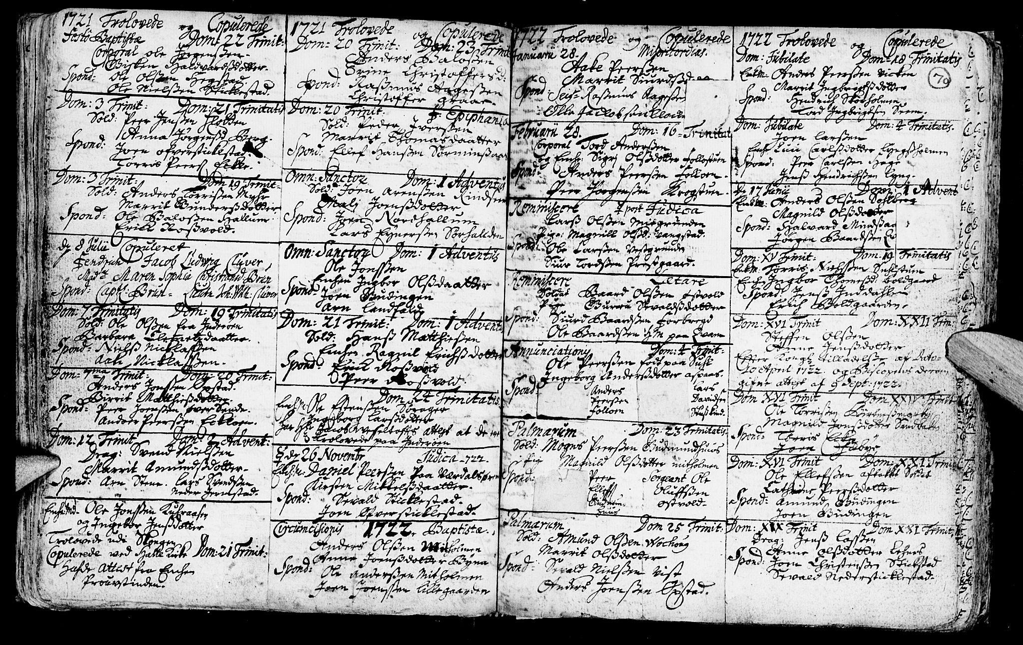 SAT, Ministerialprotokoller, klokkerbøker og fødselsregistre - Nord-Trøndelag, 723/L0230: Ministerialbok nr. 723A01, 1705-1747, s. 70