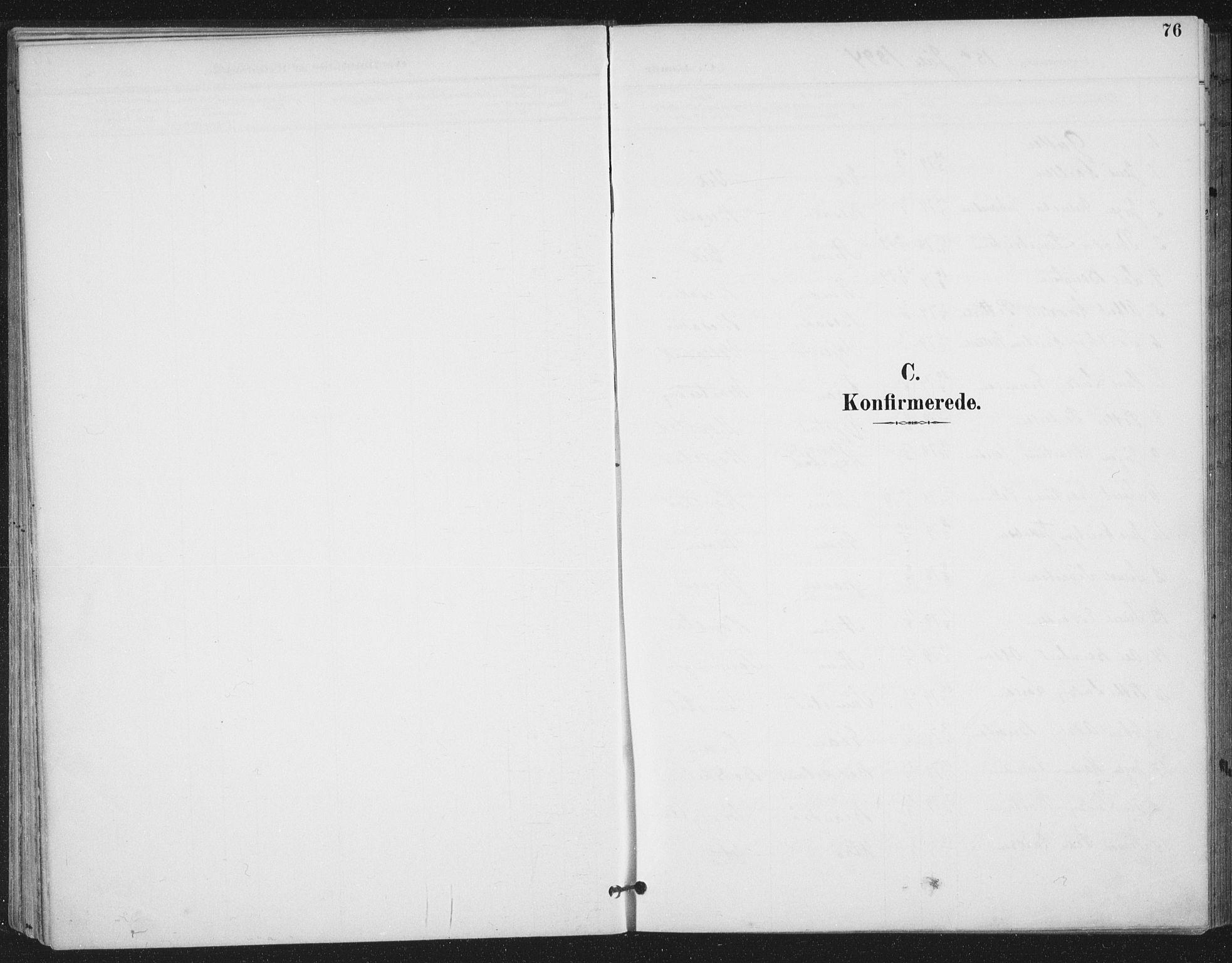 SAT, Ministerialprotokoller, klokkerbøker og fødselsregistre - Sør-Trøndelag, 657/L0708: Ministerialbok nr. 657A09, 1894-1904, s. 76