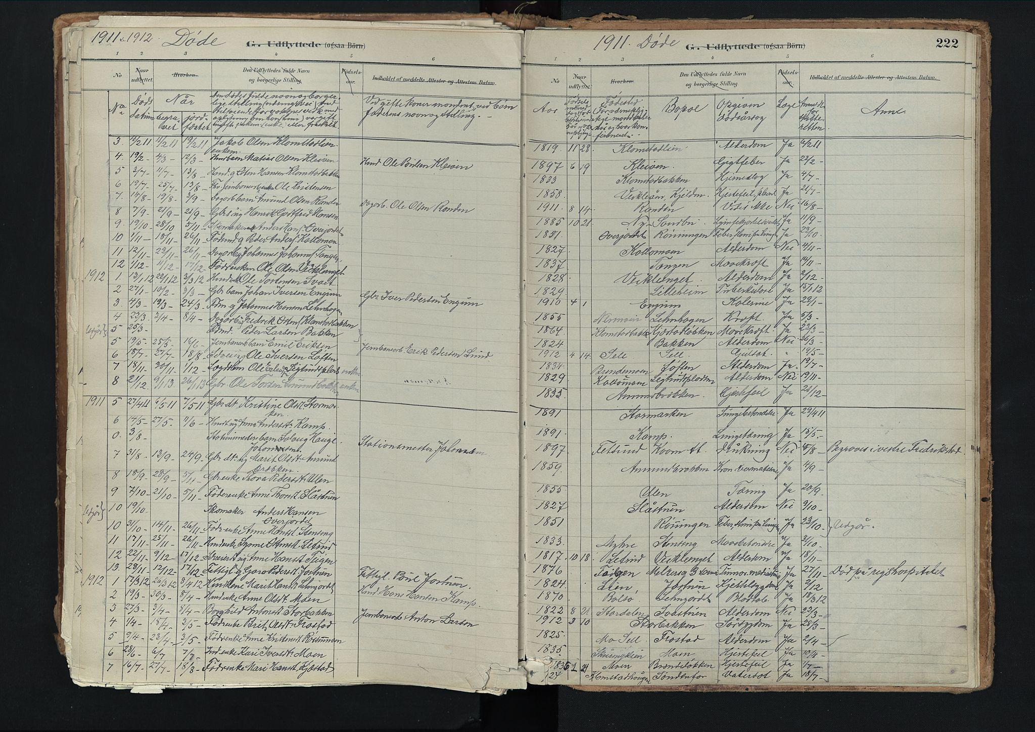 SAH, Nord-Fron prestekontor, Ministerialbok nr. 3, 1884-1914, s. 222