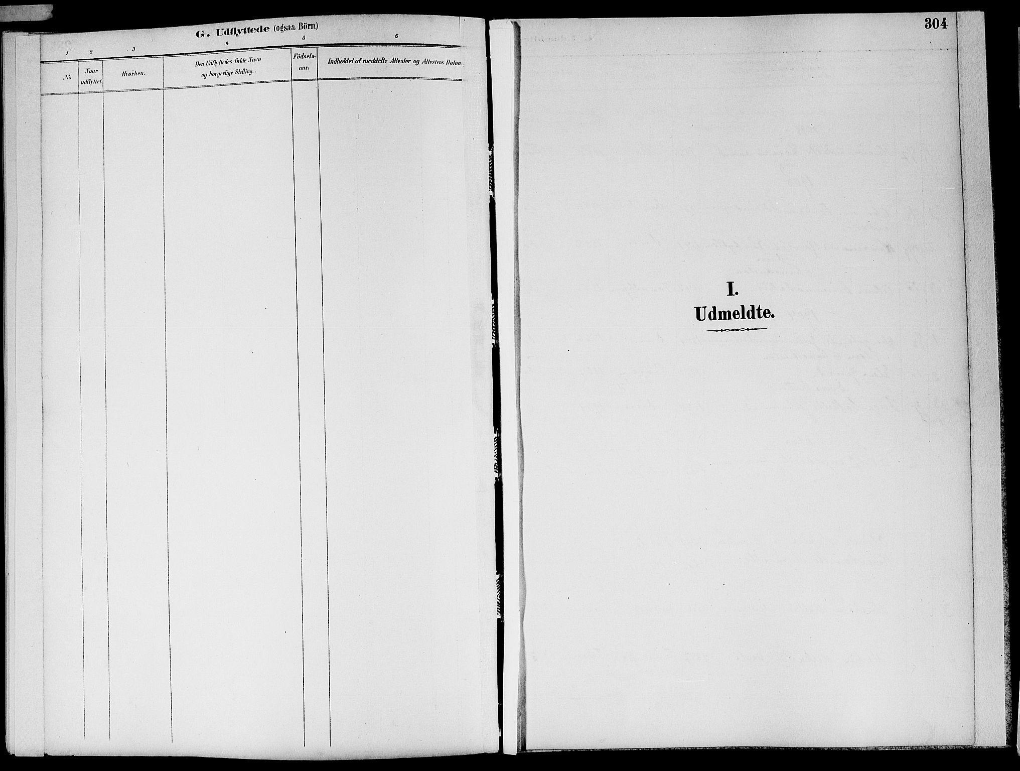 SAT, Ministerialprotokoller, klokkerbøker og fødselsregistre - Nord-Trøndelag, 773/L0617: Ministerialbok nr. 773A08, 1887-1910, s. 304