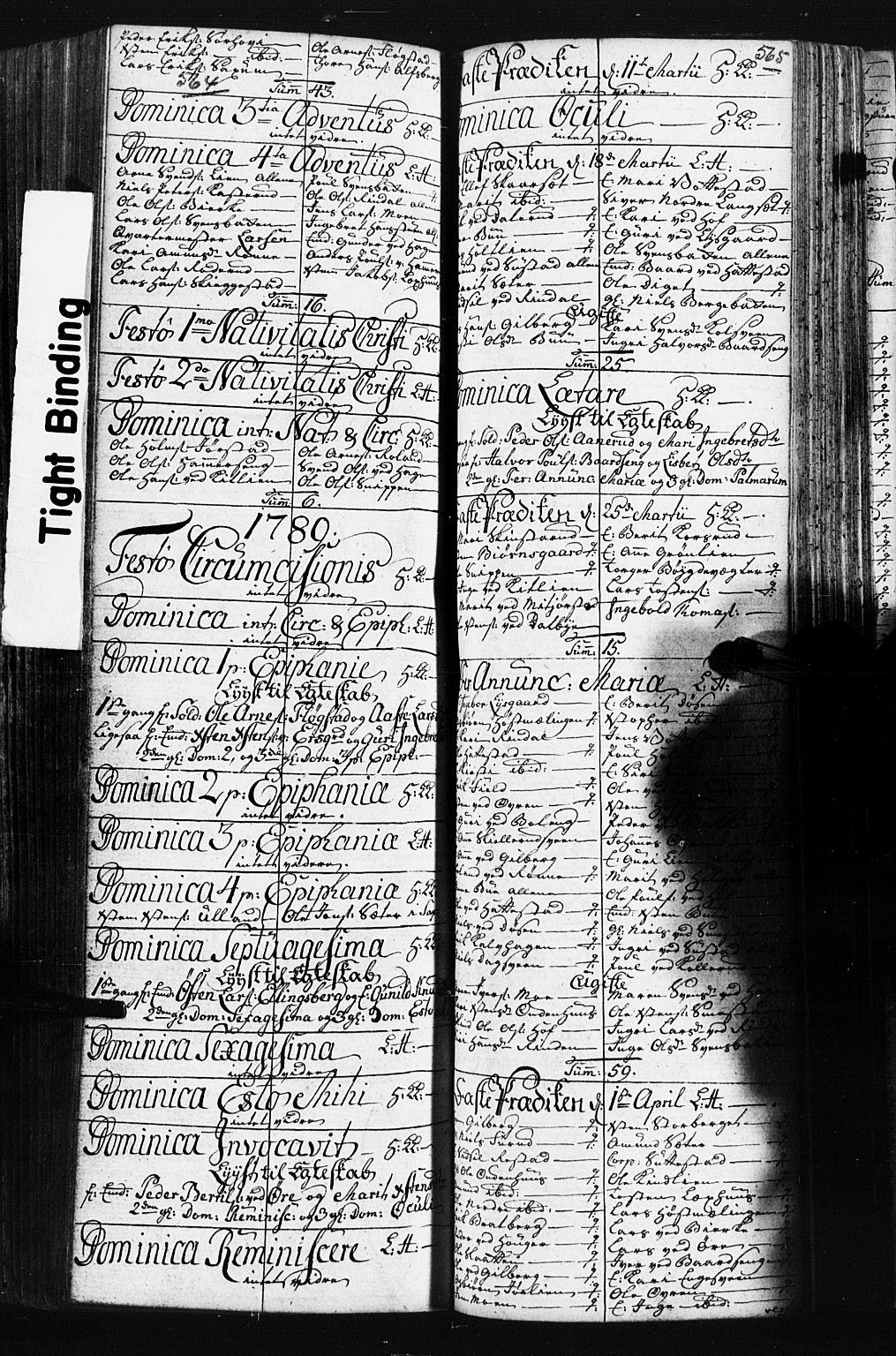 SAH, Fåberg prestekontor, Klokkerbok nr. 3, 1768-1796, s. 564-565