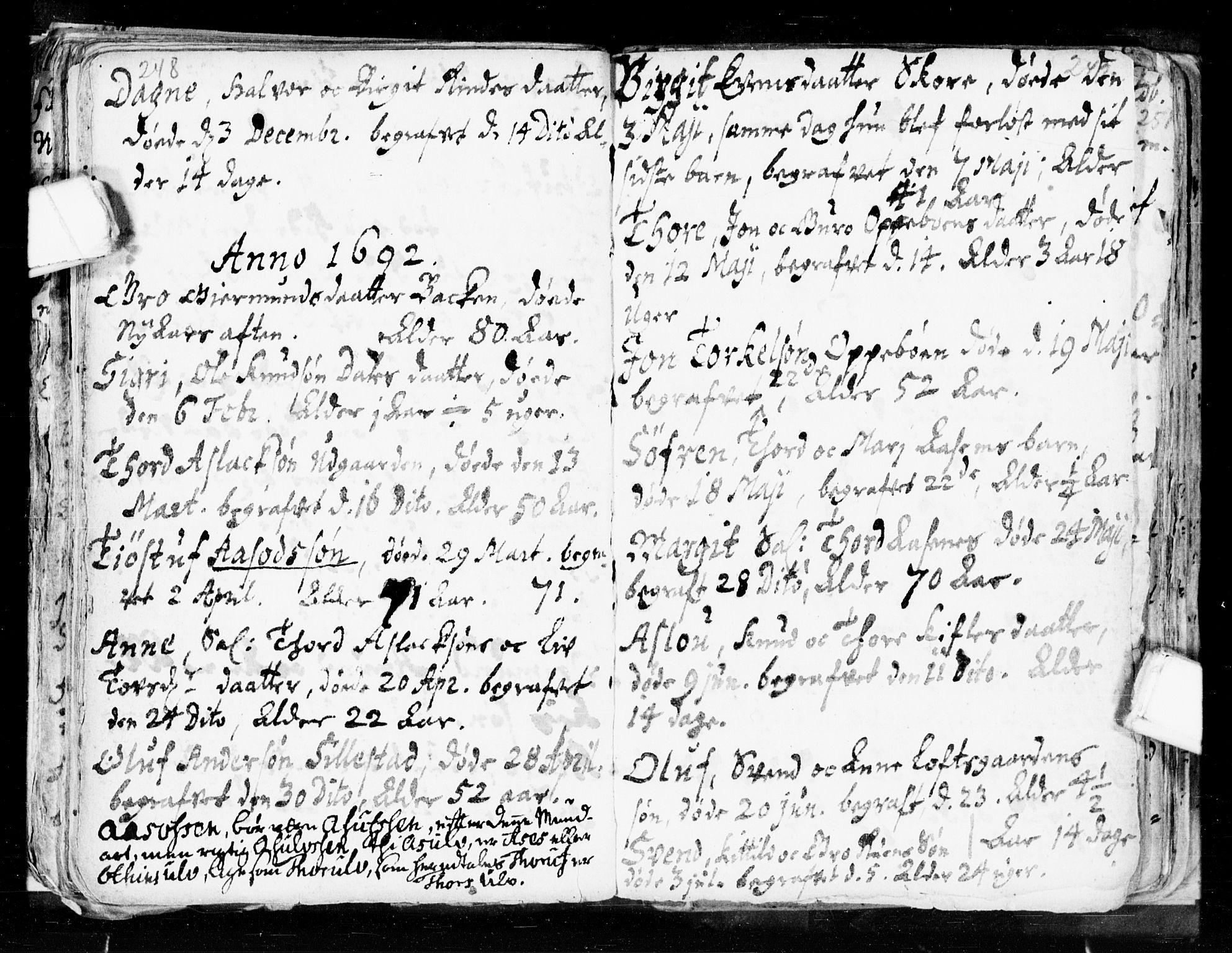 SAKO, Seljord kirkebøker, F/Fa/L0002: Ministerialbok nr. I 2, 1689-1713, s. 248-249