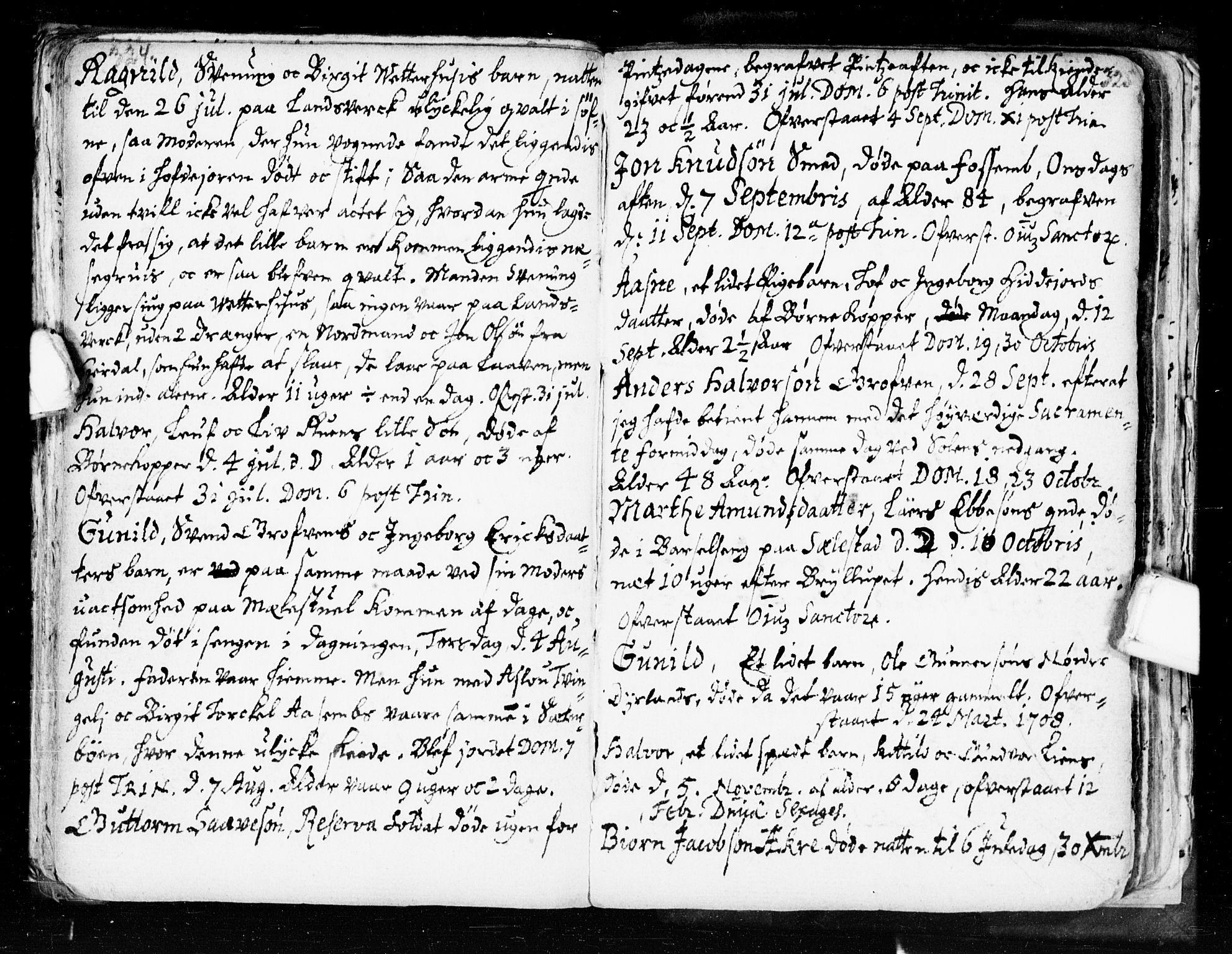 SAKO, Seljord kirkebøker, F/Fa/L0002: Ministerialbok nr. I 2, 1689-1713, s. 324-325
