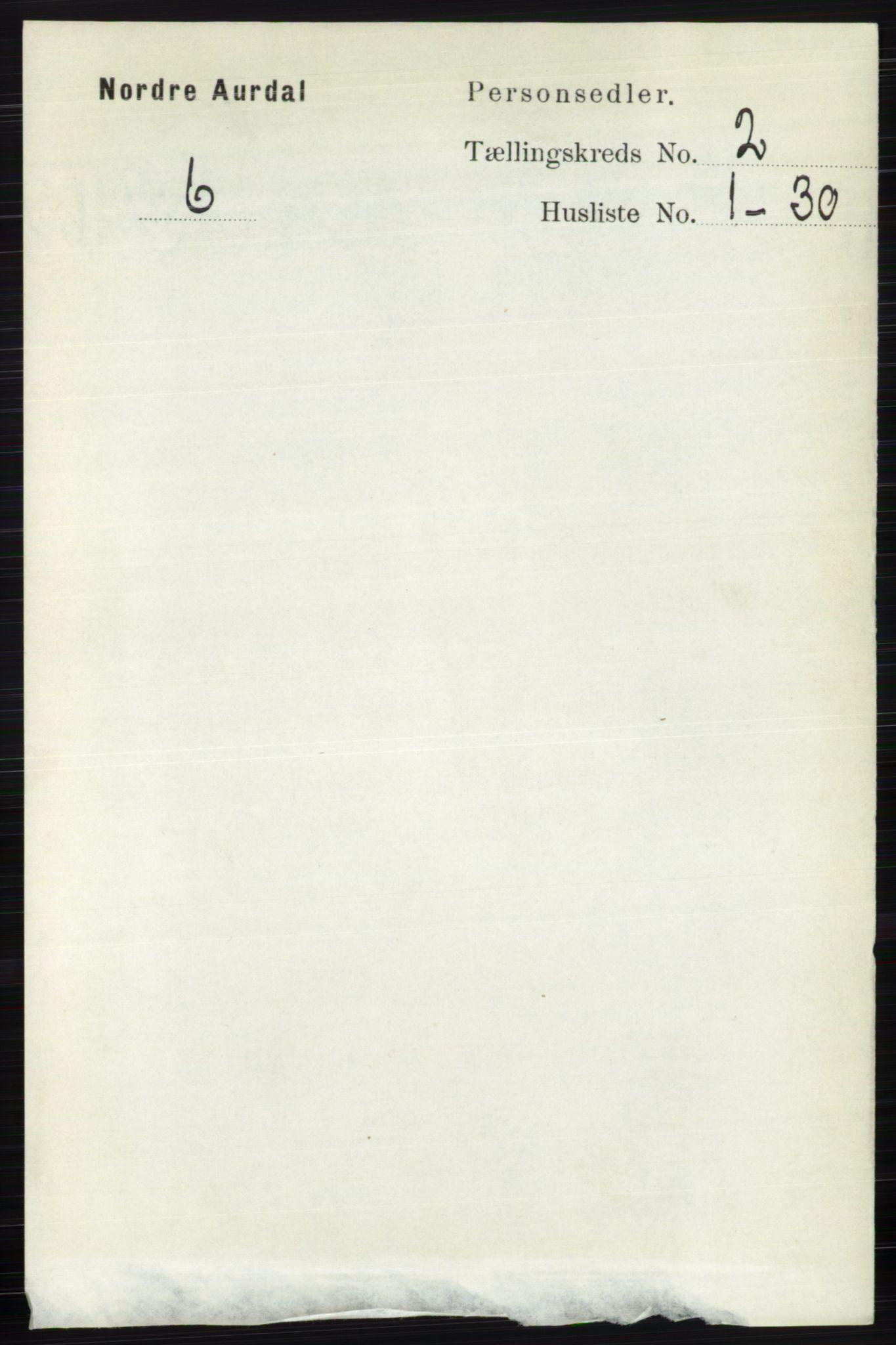 RA, Folketelling 1891 for 0542 Nord-Aurdal herred, 1891, s. 591