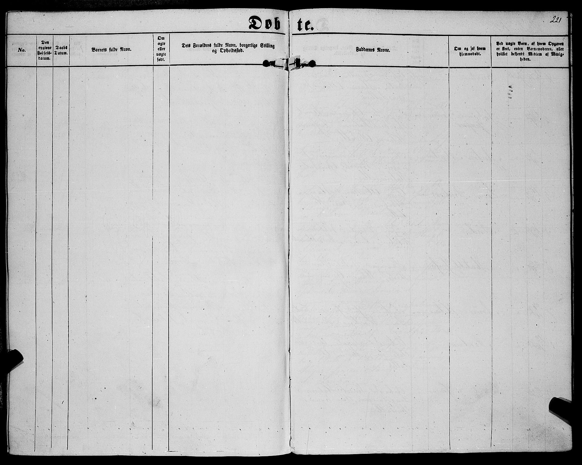 SAKO, Sannidal kirkebøker, F/Fa/L0011: Ministerialbok nr. 11, 1863-1873, s. 221