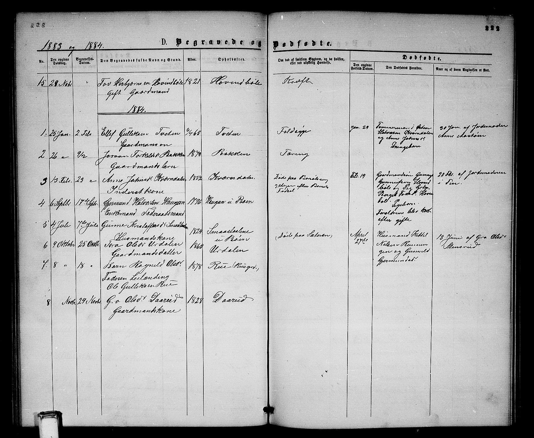 SAKO, Gransherad kirkebøker, G/Gb/L0002: Klokkerbok nr. II 2, 1860-1886, s. 222