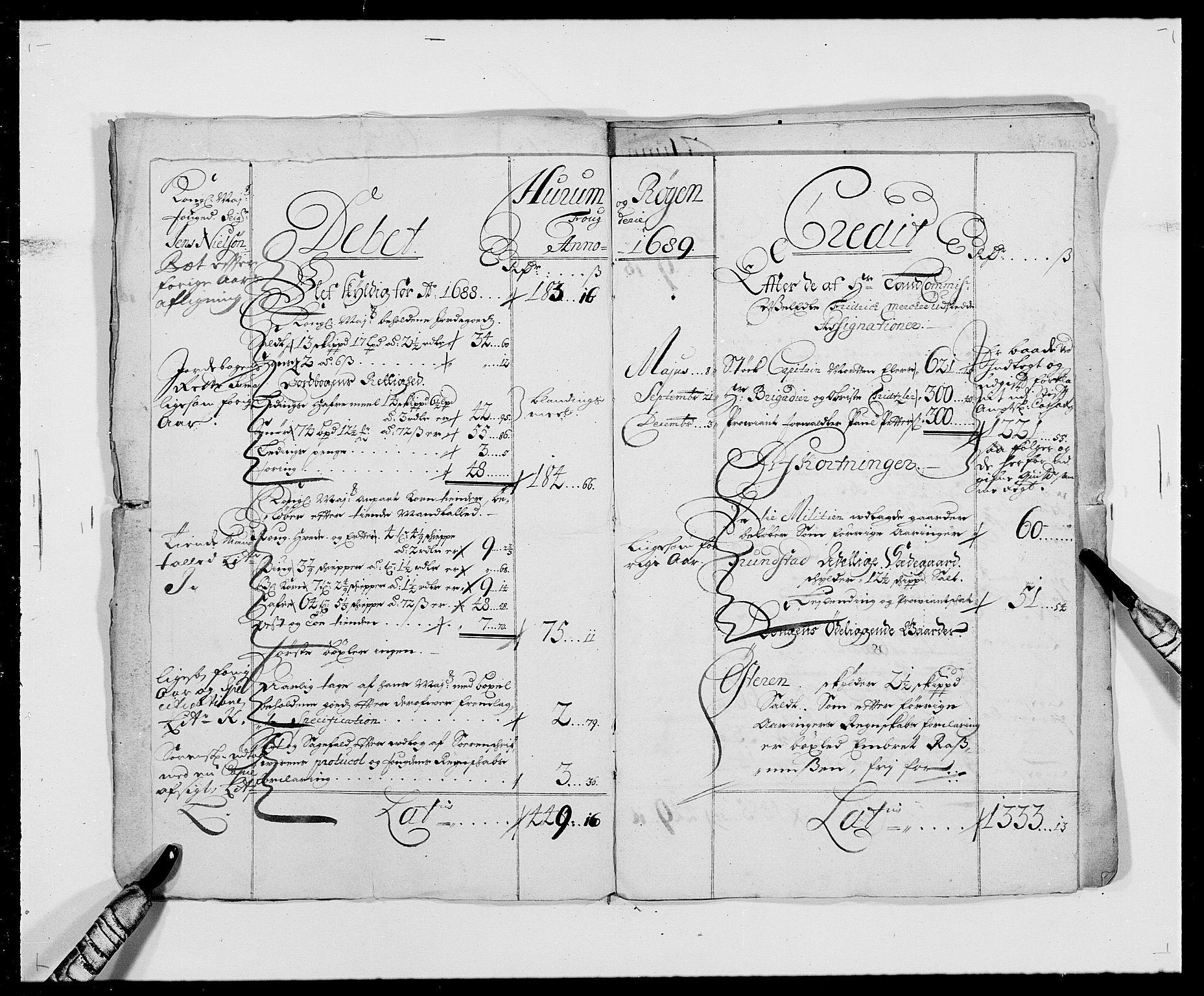 RA, Rentekammeret inntil 1814, Reviderte regnskaper, Fogderegnskap, R29/L1693: Fogderegnskap Hurum og Røyken, 1688-1693, s. 5