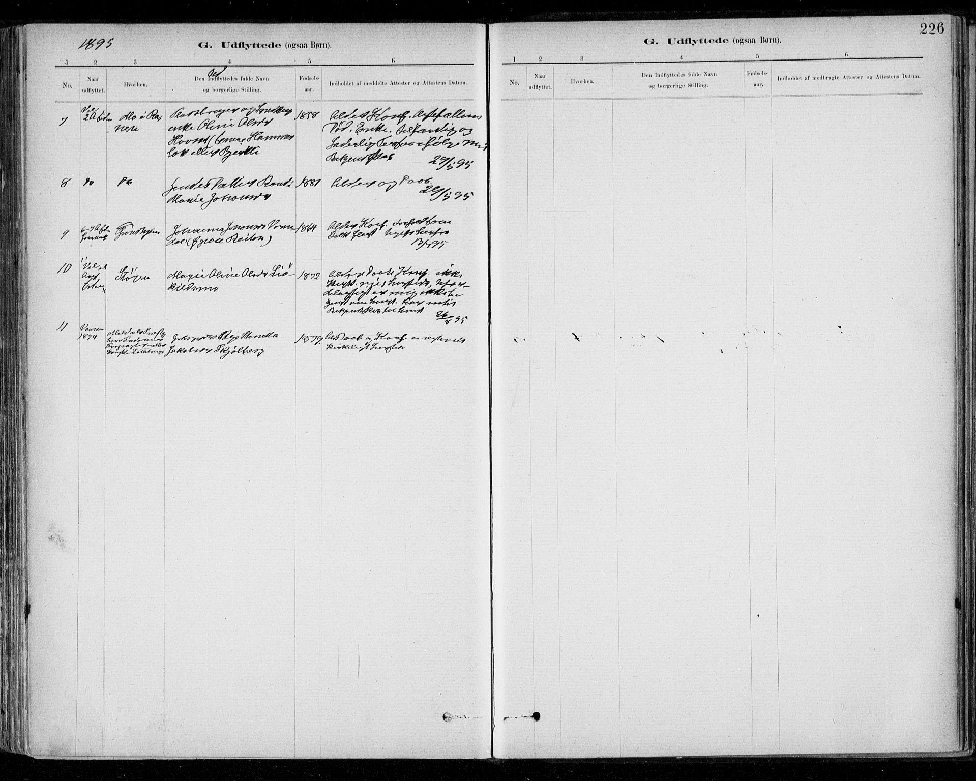 SAT, Ministerialprotokoller, klokkerbøker og fødselsregistre - Sør-Trøndelag, 668/L0810: Ministerialbok nr. 668A10, 1881-1894, s. 226