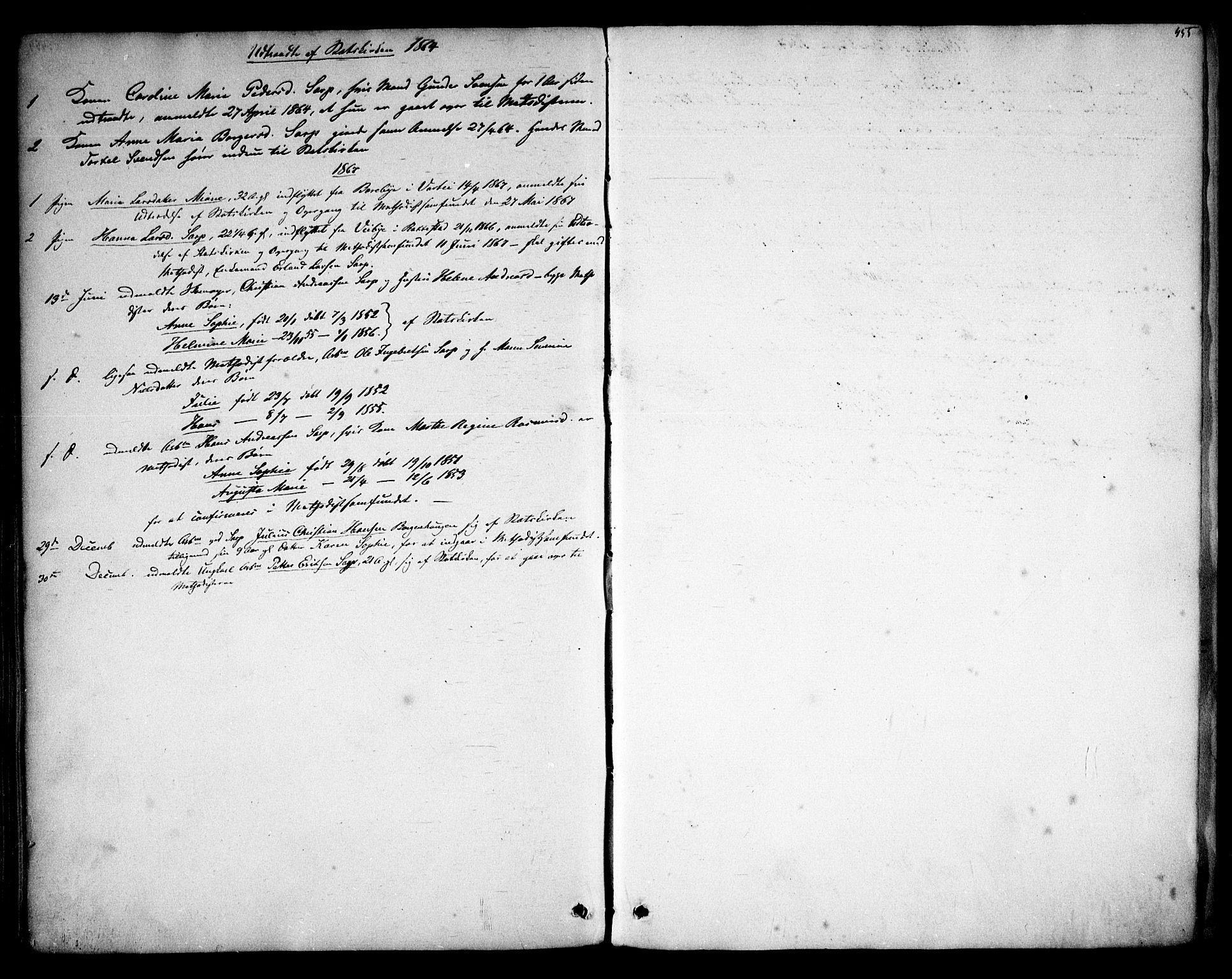 SAO, Skjeberg prestekontor Kirkebøker, F/Fa/L0007: Ministerialbok nr. I 7, 1859-1868, s. 455