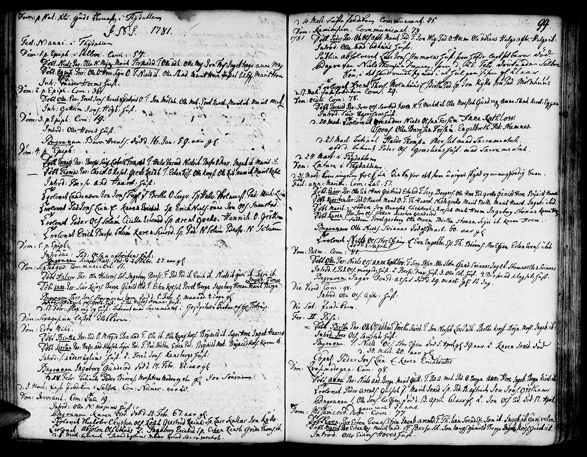 SAT, Ministerialprotokoller, klokkerbøker og fødselsregistre - Sør-Trøndelag, 695/L1138: Ministerialbok nr. 695A02 /1, 1757-1801, s. 102