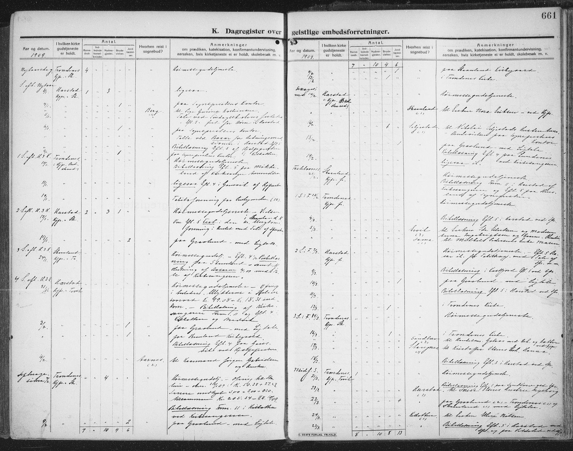 SATØ, Trondenes sokneprestkontor, H/Ha/L0018kirke: Ministerialbok nr. 18, 1909-1918, s. 661