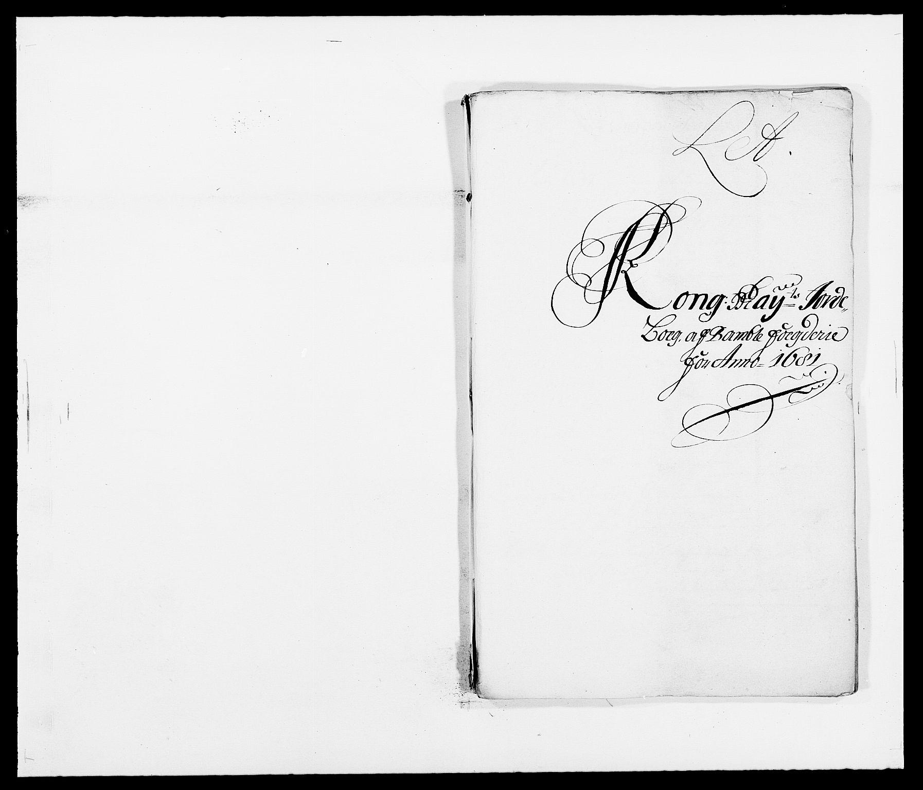 RA, Rentekammeret inntil 1814, Reviderte regnskaper, Fogderegnskap, R34/L2045: Fogderegnskap Bamble, 1680-1681, s. 232
