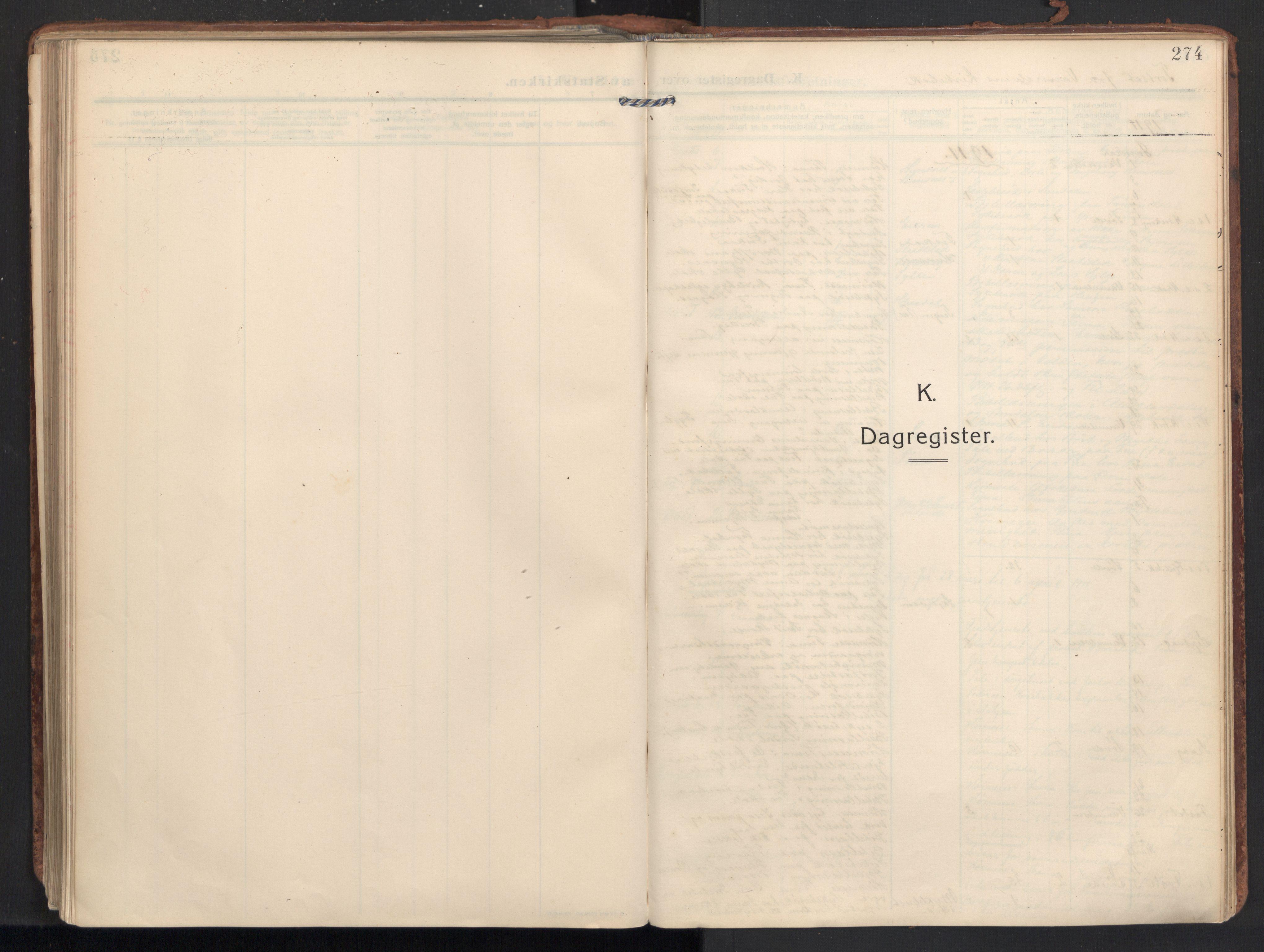 SAT, Ministerialprotokoller, klokkerbøker og fødselsregistre - Møre og Romsdal, 502/L0026: Ministerialbok nr. 502A04, 1909-1933, s. 274