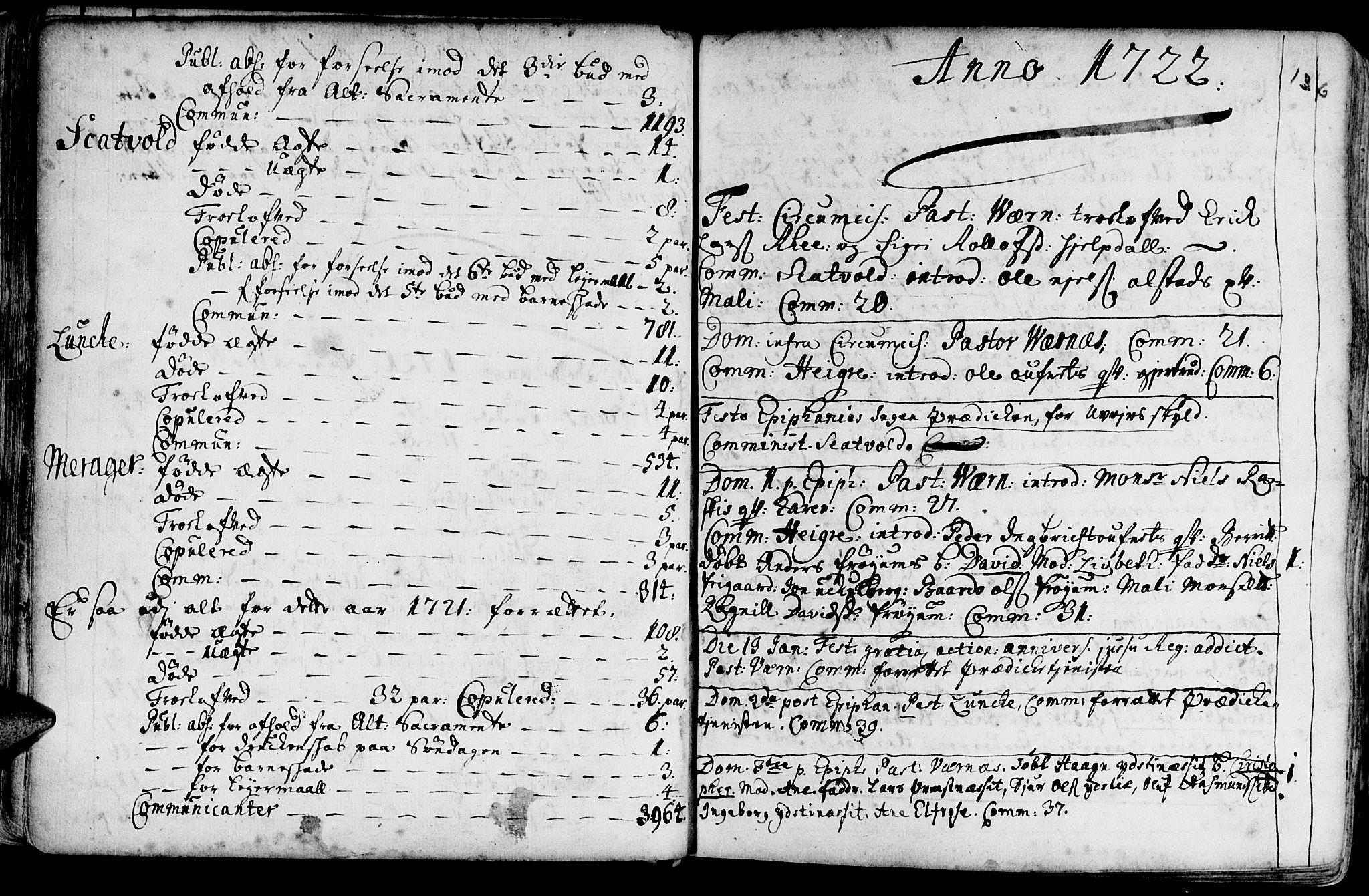 SAT, Ministerialprotokoller, klokkerbøker og fødselsregistre - Nord-Trøndelag, 709/L0054: Ministerialbok nr. 709A02, 1714-1738, s. 135-136