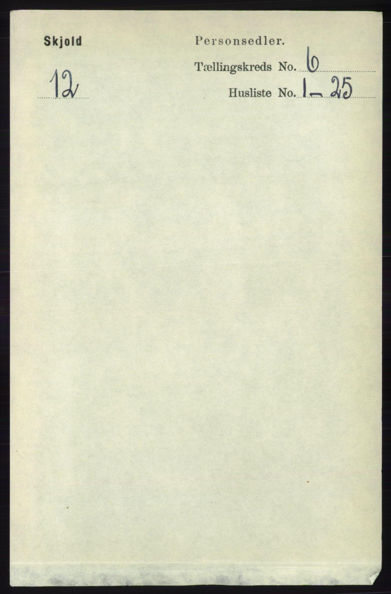 RA, Folketelling 1891 for 1154 Skjold herred, 1891, s. 1009