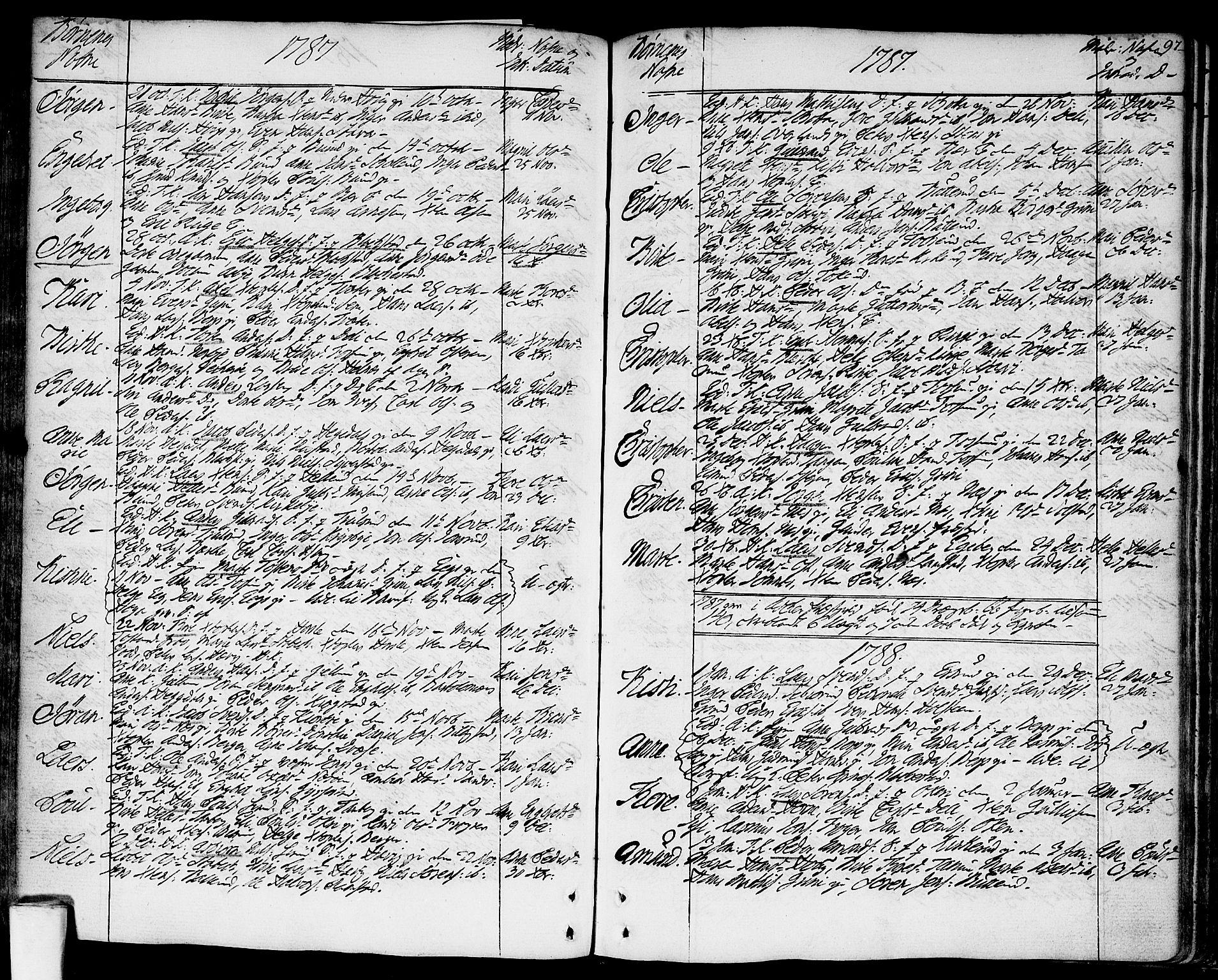 SAO, Asker prestekontor Kirkebøker, F/Fa/L0003: Ministerialbok nr. I 3, 1767-1807, s. 97