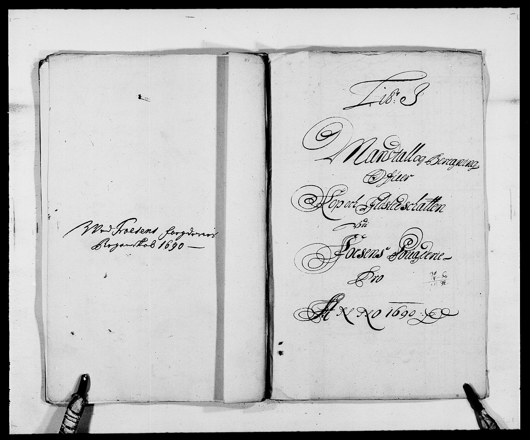RA, Rentekammeret inntil 1814, Reviderte regnskaper, Fogderegnskap, R57/L3848: Fogderegnskap Fosen, 1690-1691, s. 131