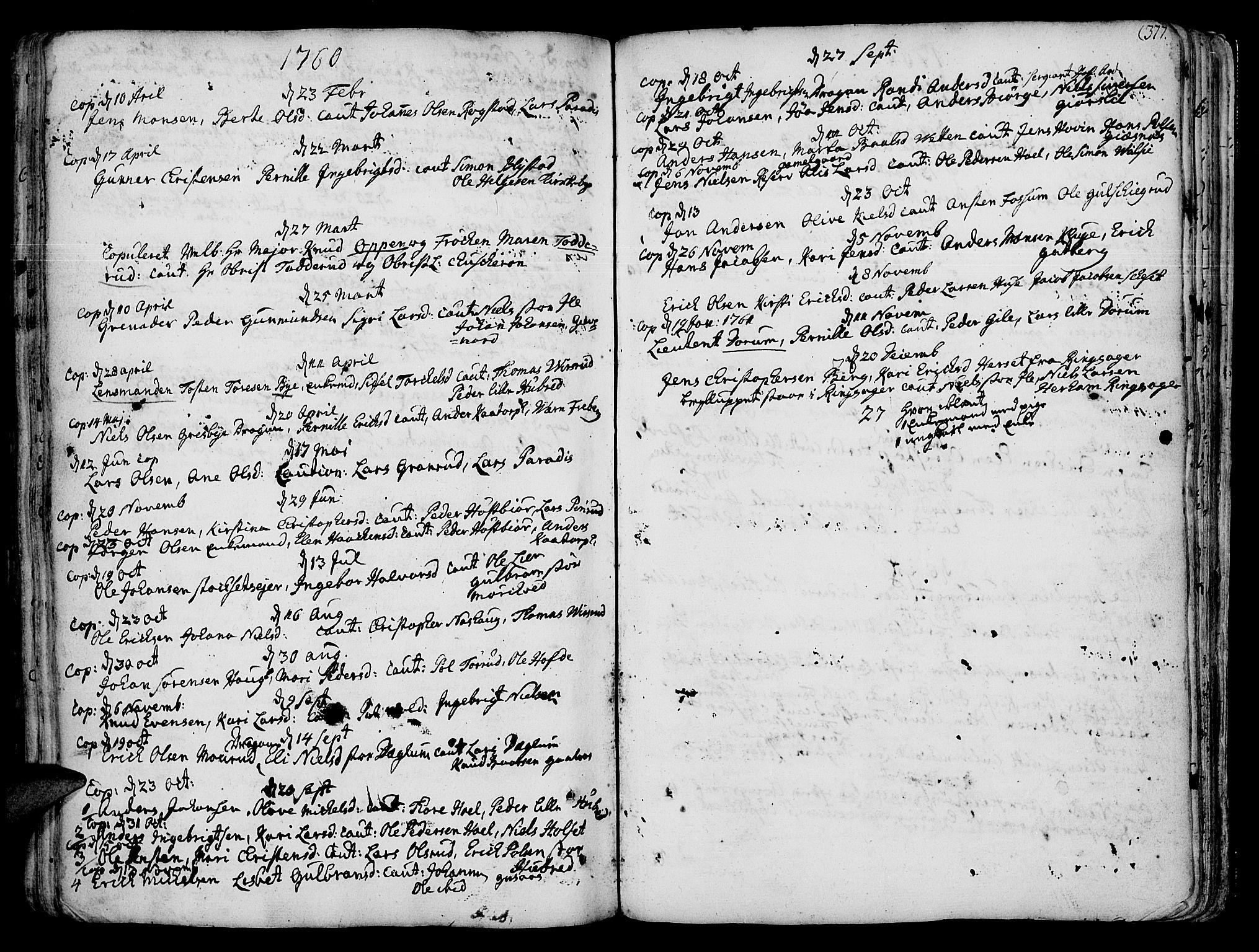 SAH, Vang prestekontor, Hedmark, H/Ha/Haa/L0003: Ministerialbok nr. 3, 1734-1809, s. 377