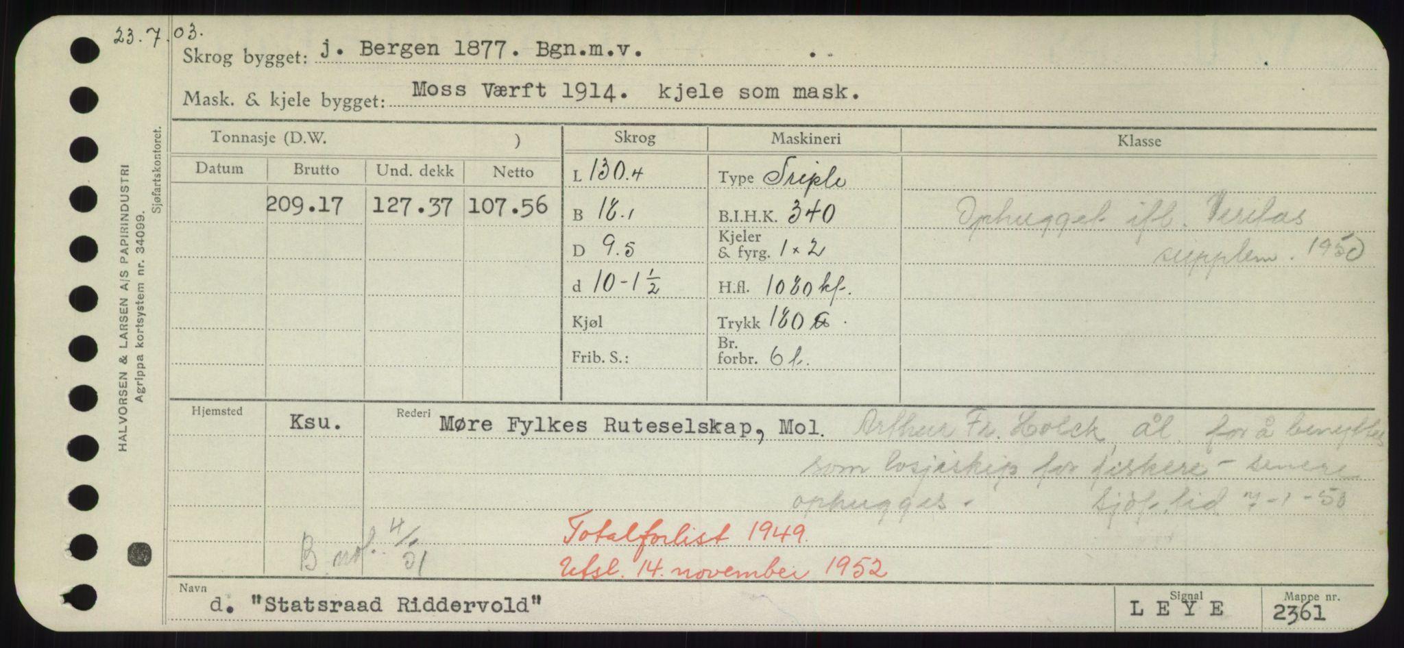 RA, Sjøfartsdirektoratet med forløpere, Skipsmålingen, H/Hd/L0036: Fartøy, St, s. 185