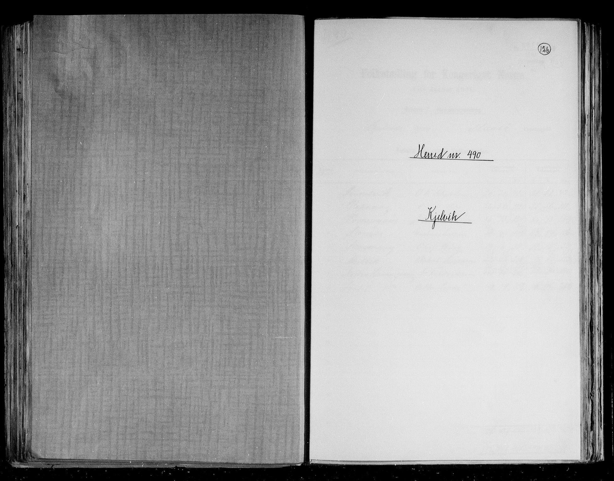 RA, Folketelling 1891 for 2019 Kjelvik herred, 1891, s. 1