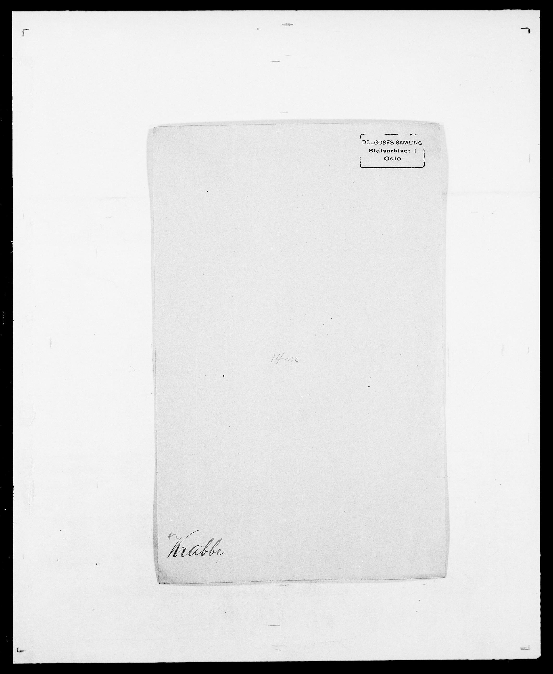 SAO, Delgobe, Charles Antoine - samling, D/Da/L0021: Klagenberg - Kristoft, s. 601