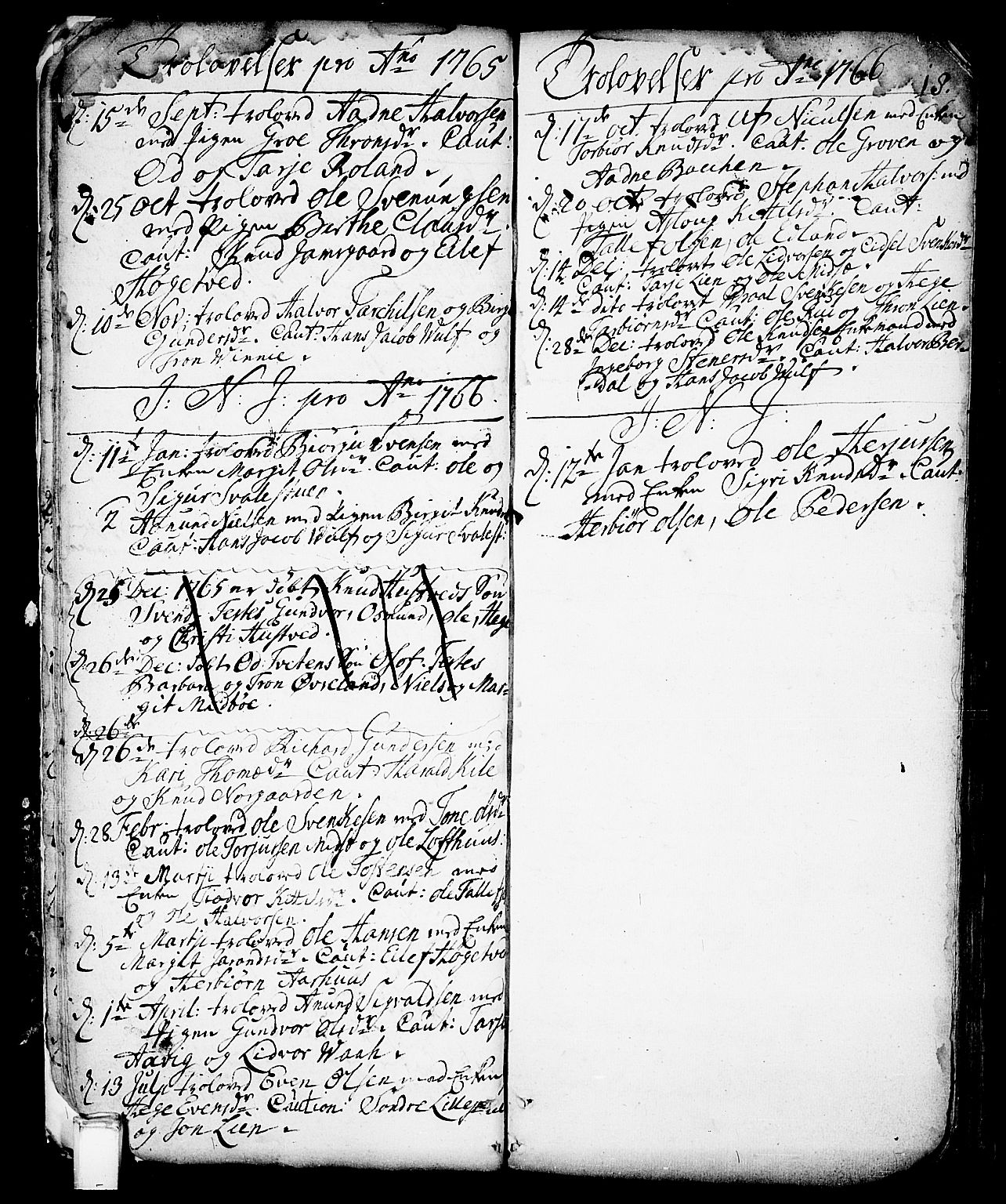 SAKO, Vinje kirkebøker, F/Fa/L0001: Ministerialbok nr. I 1, 1717-1766, s. 18