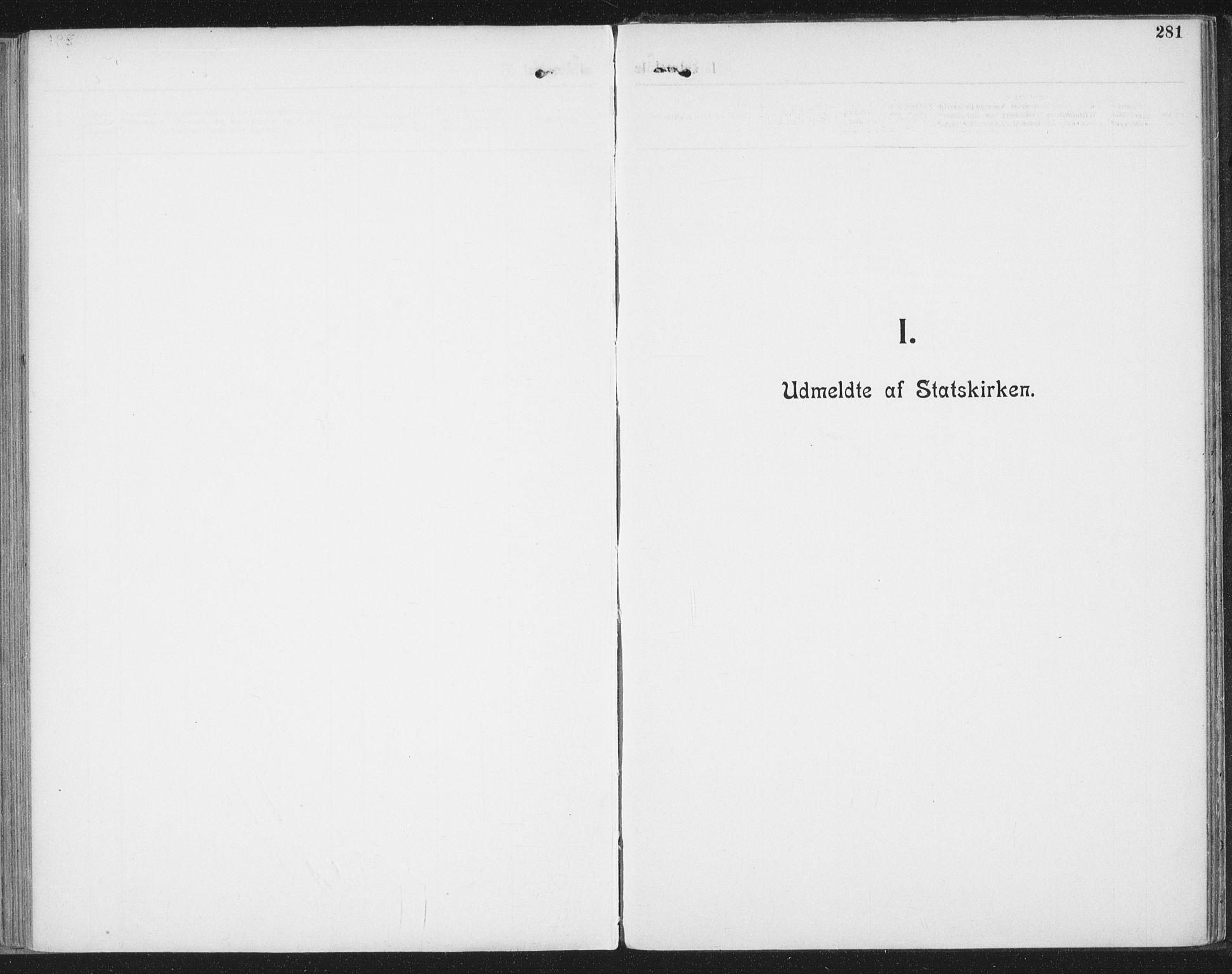 SAT, Ministerialprotokoller, klokkerbøker og fødselsregistre - Nordland, 804/L0081: Ministerialbok nr. 804A02, 1901-1915, s. 281