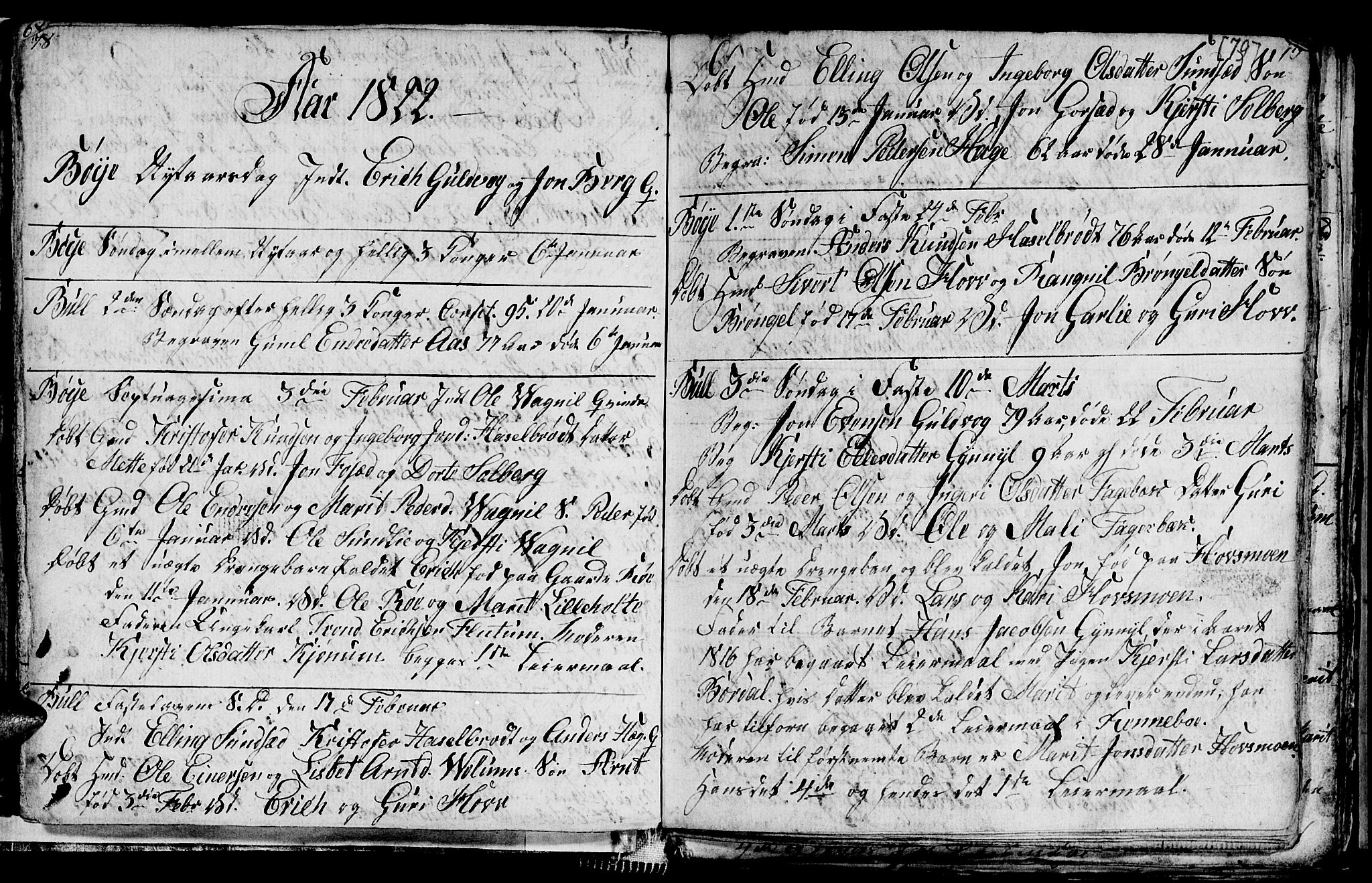 SAT, Ministerialprotokoller, klokkerbøker og fødselsregistre - Sør-Trøndelag, 689/L1042: Klokkerbok nr. 689C01, 1812-1841, s. 78-79
