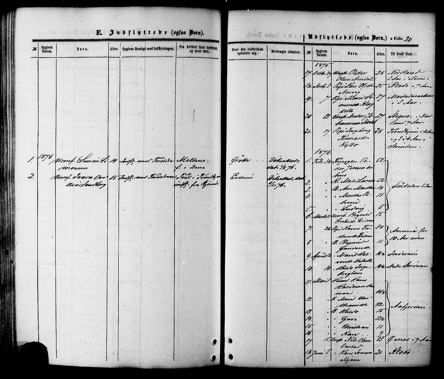 SAT, Ministerialprotokoller, klokkerbøker og fødselsregistre - Sør-Trøndelag, 695/L1147: Ministerialbok nr. 695A07, 1860-1877, s. 20
