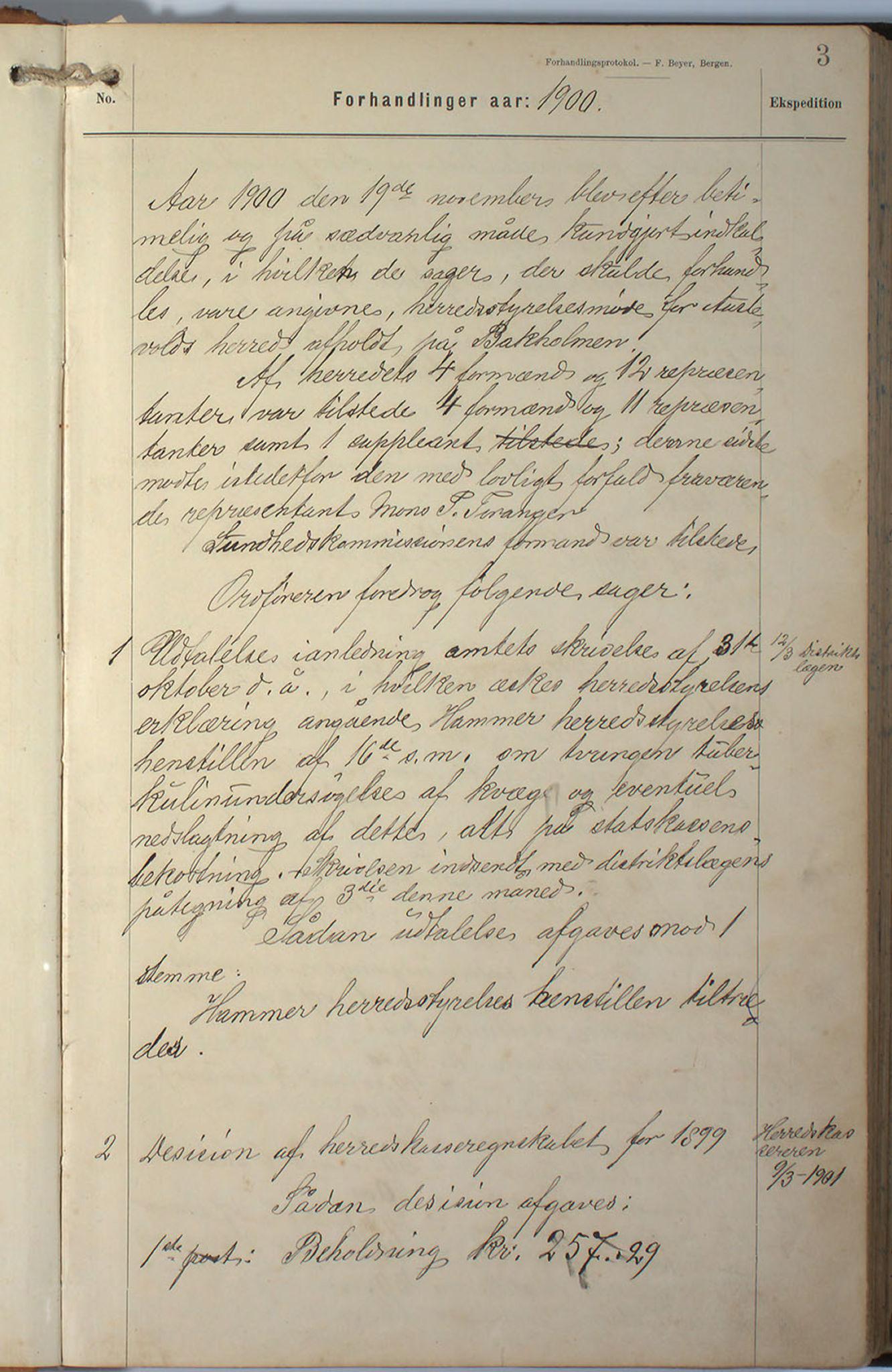 IKAH, Austevoll kommune. Formannskapet, A/Aa/L0002a: Møtebok Austevoll heradstyre, 1901-1910, s. 4
