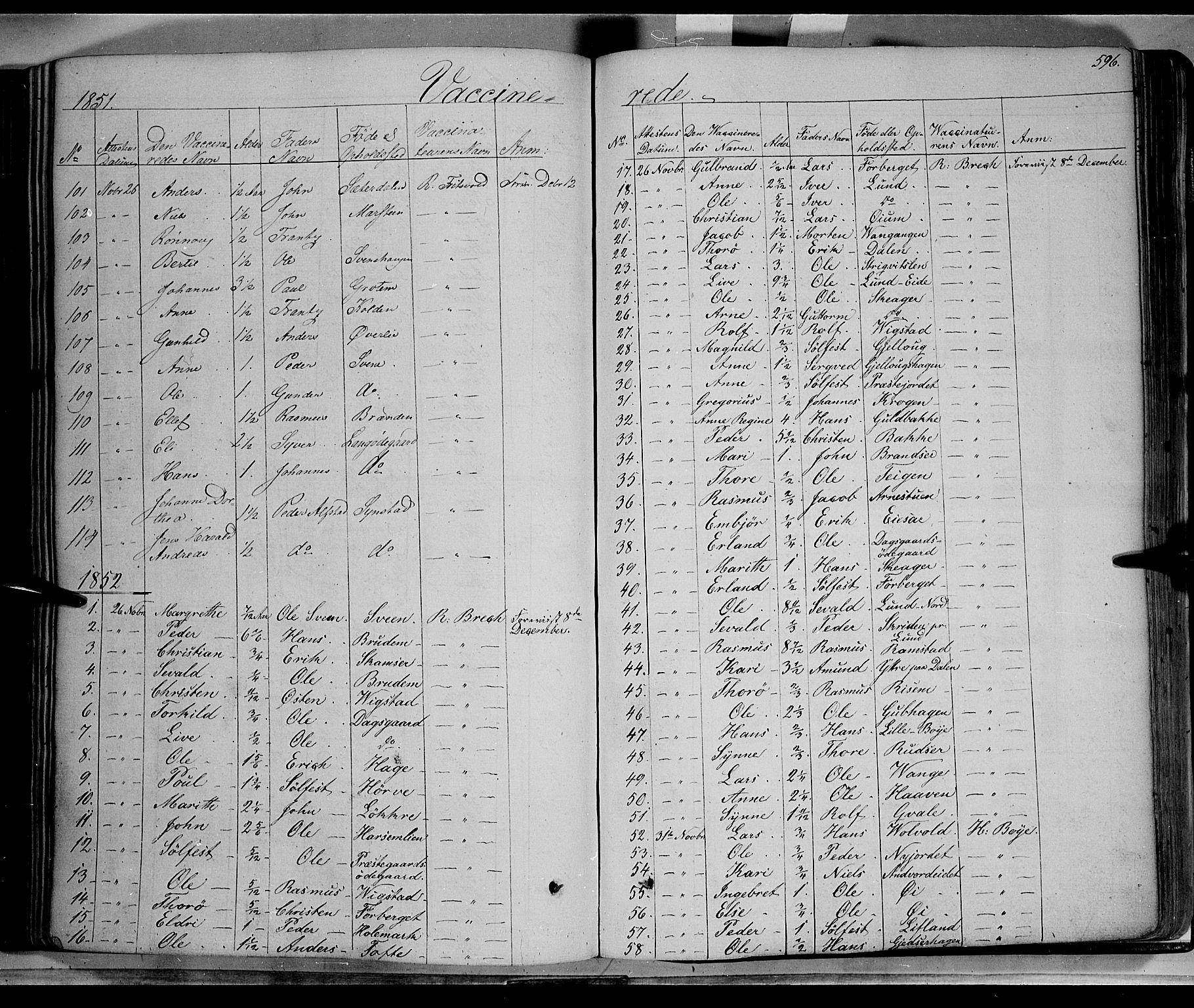 SAH, Lom prestekontor, K/L0006: Ministerialbok nr. 6B, 1837-1863, s. 596