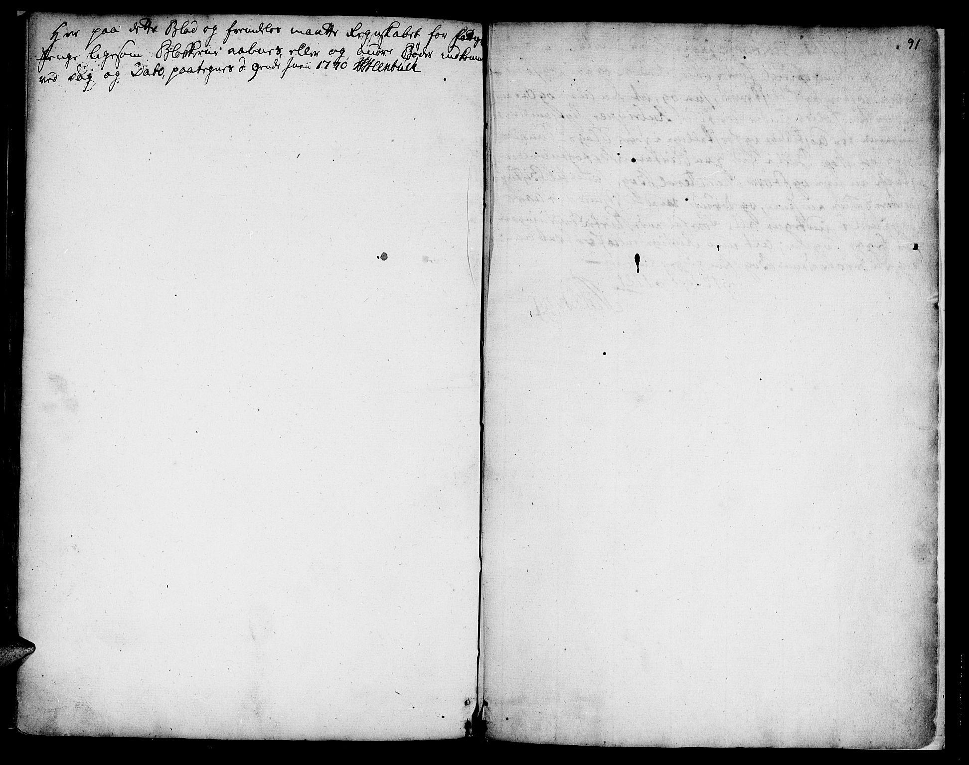 SAT, Ministerialprotokoller, klokkerbøker og fødselsregistre - Sør-Trøndelag, 618/L0437: Ministerialbok nr. 618A02, 1749-1782, s. 91